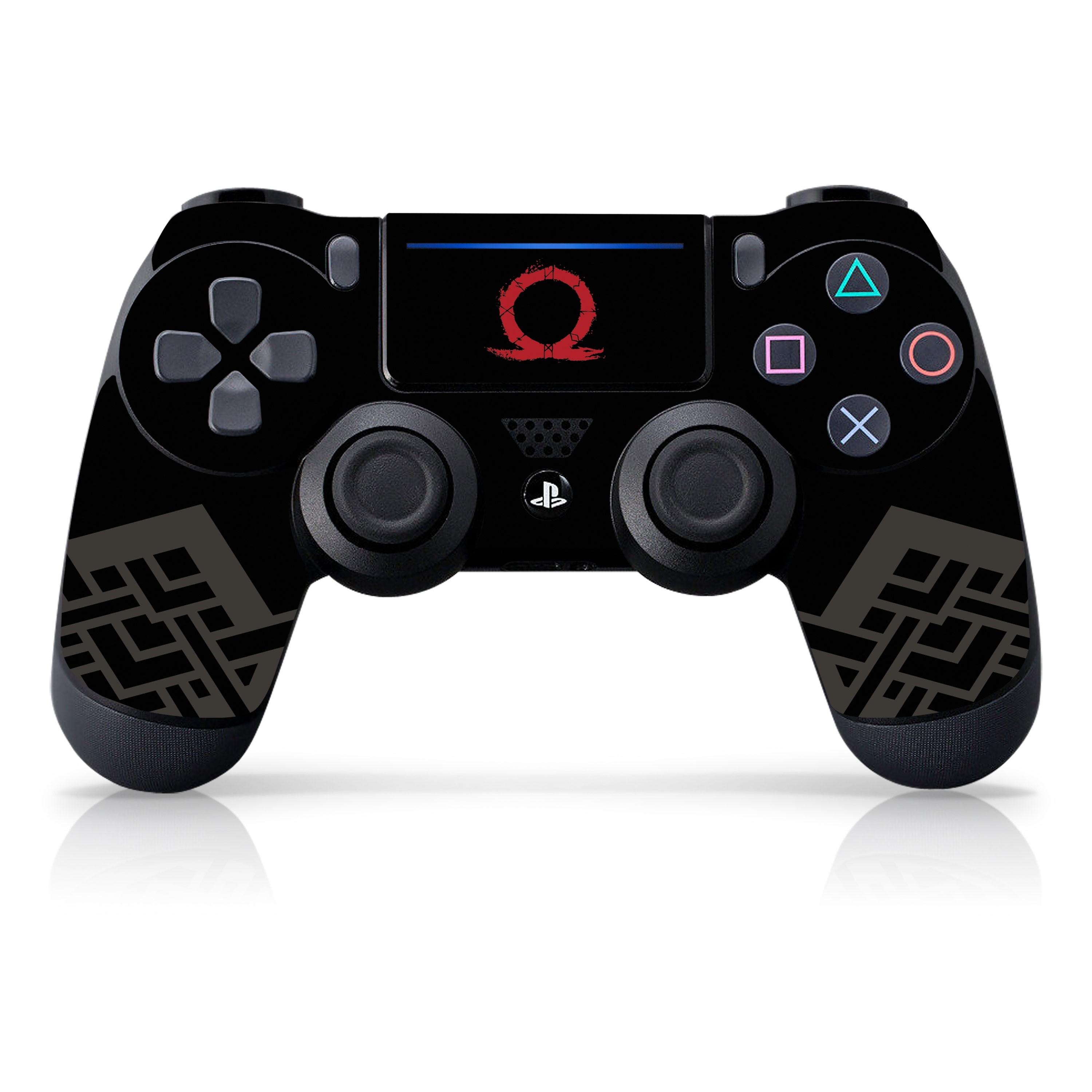 "Officially Licensed PlayStation 4 God of War DUALSHOCK 4 Wireless Controller Skin and Tech Decals ""Omega"""