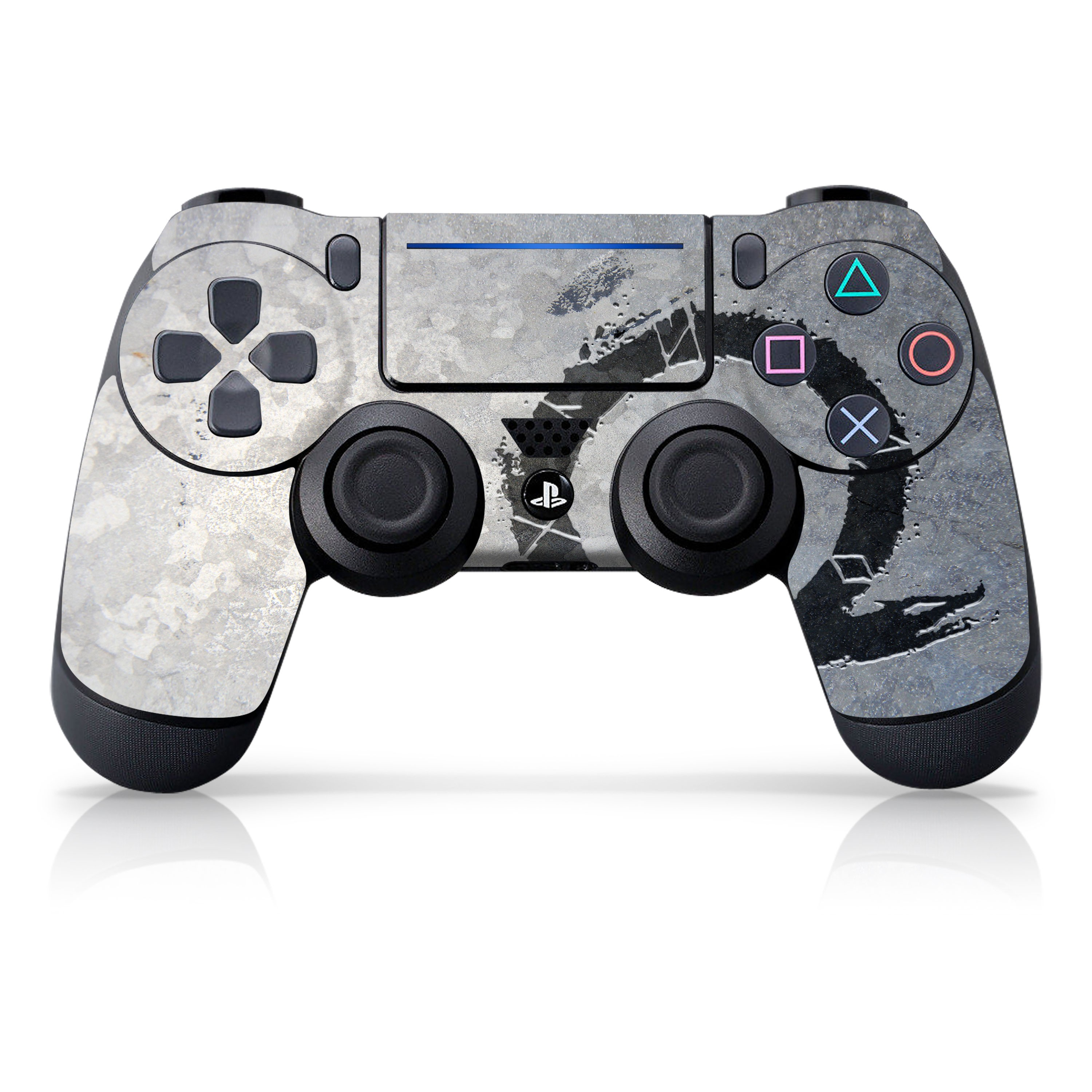 "Officially Licensed PlayStation 4 God of War DUALSHOCK 4 Wireless Controller Skin and Tech Decals ""Stone Dragon"""