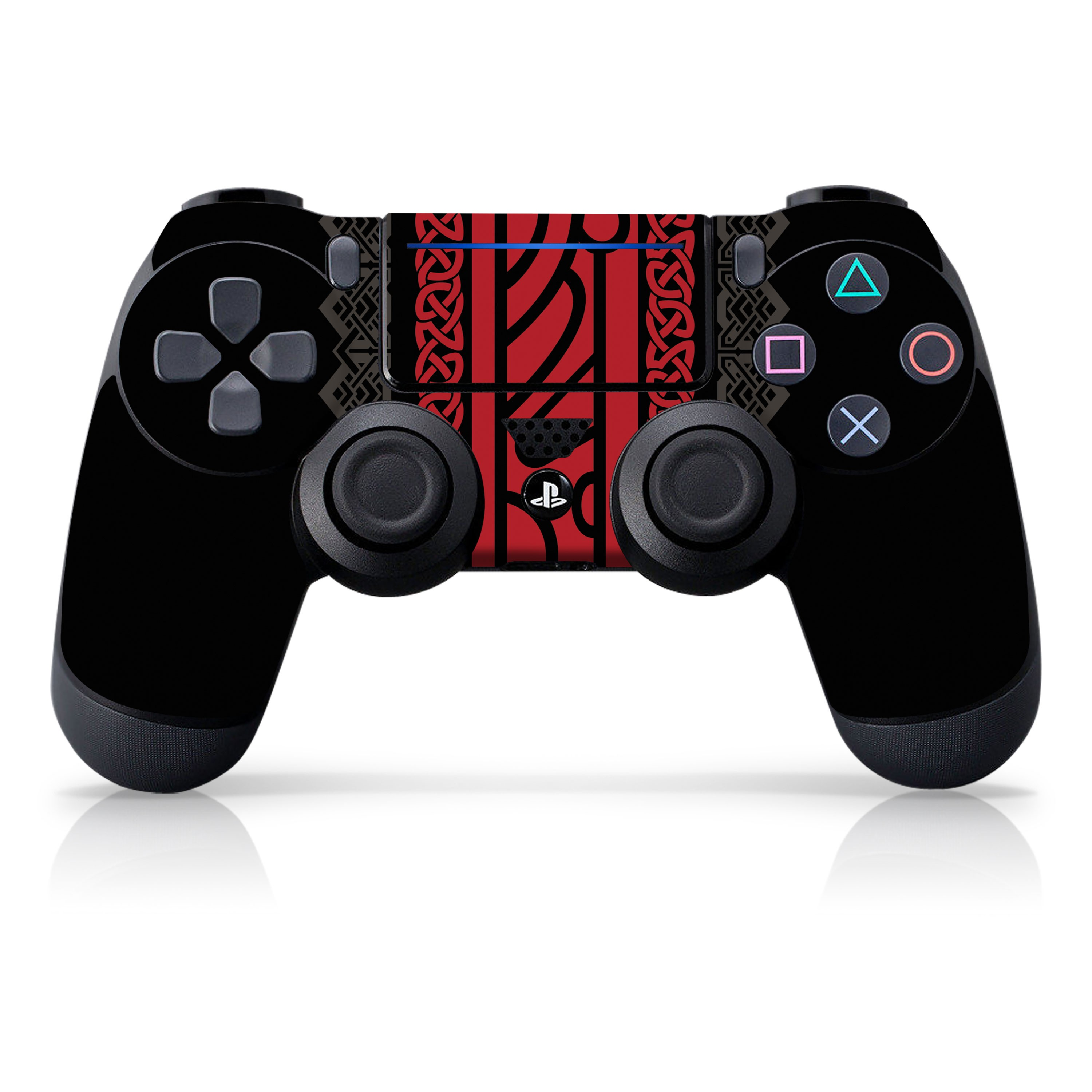 "Officially Licensed PlayStation 4 God of War DUALSHOCK 4 Wireless Controller Skin and Tech Decals ""Tapestry"""