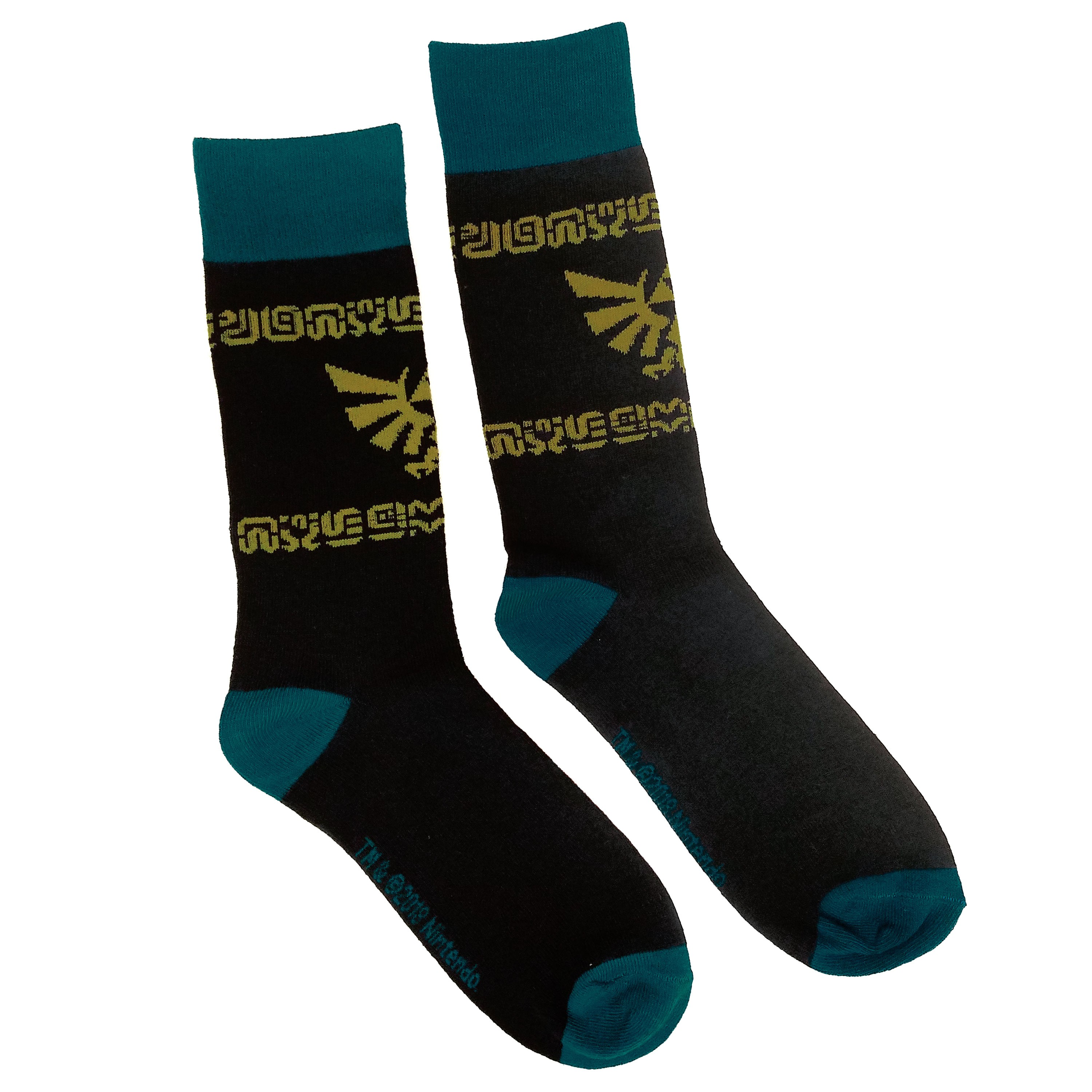 "The Legend of Zelda: Breath of the Wild™ ""Blue and Gold Hyrule Crest Repeat"" Sock - Officially Licensed by Nintendo"