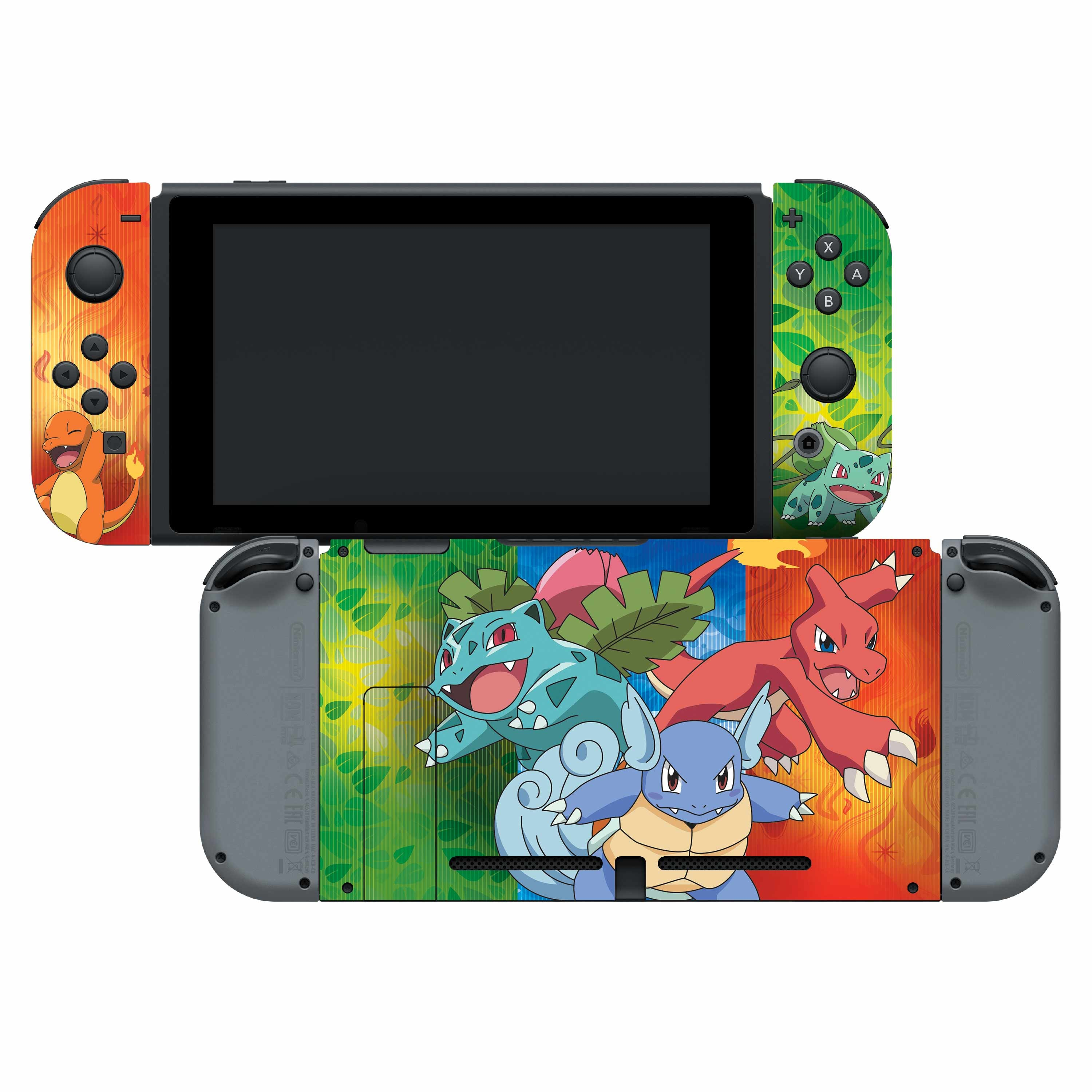 Nintendo Switch Skin & Screen Protector Set with a Pokemon Kanto Evolutions Design, Image 1