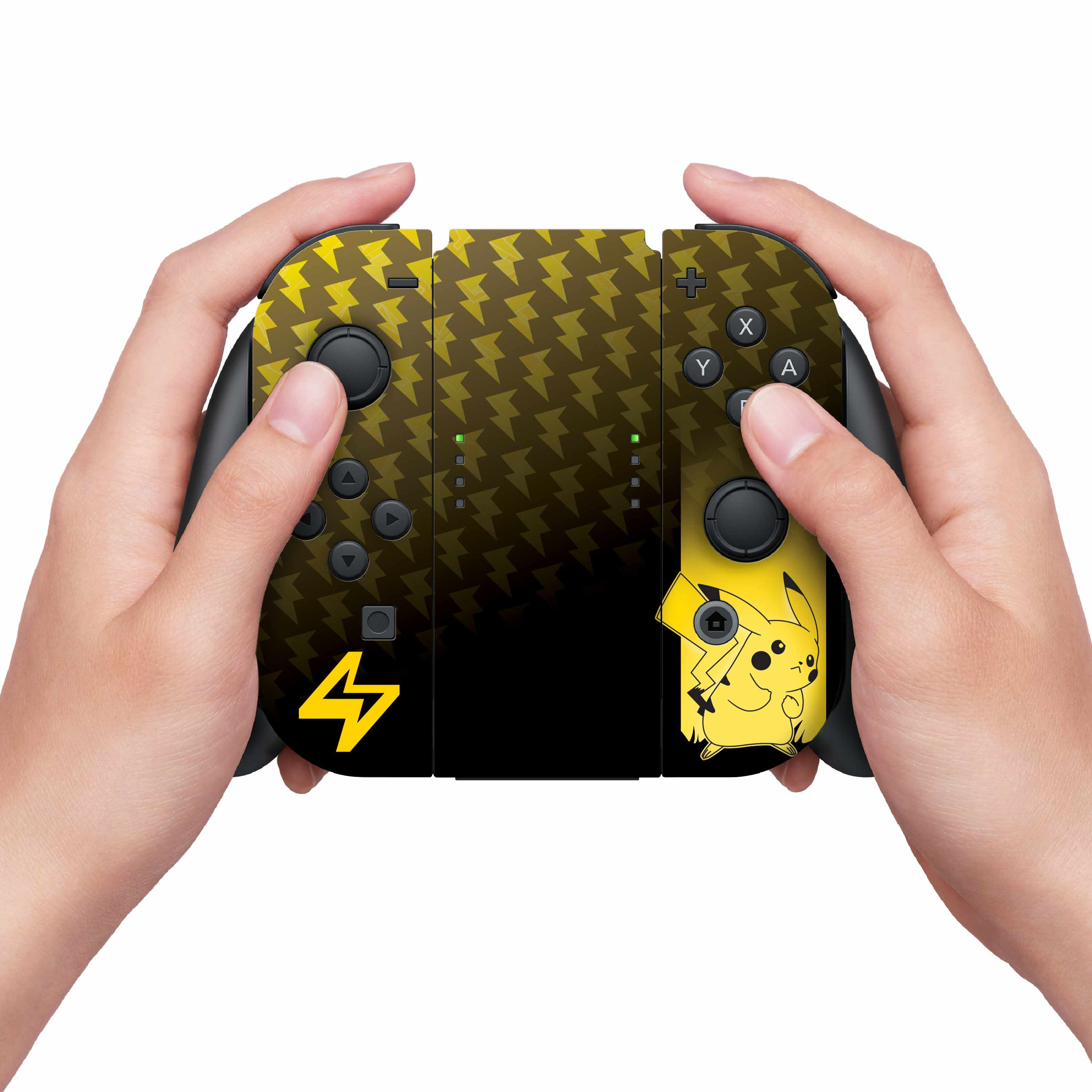 Nintendo Switch Skin & Screen Protector Set with a Pokemon Pikachu Elemental Design, Image 1