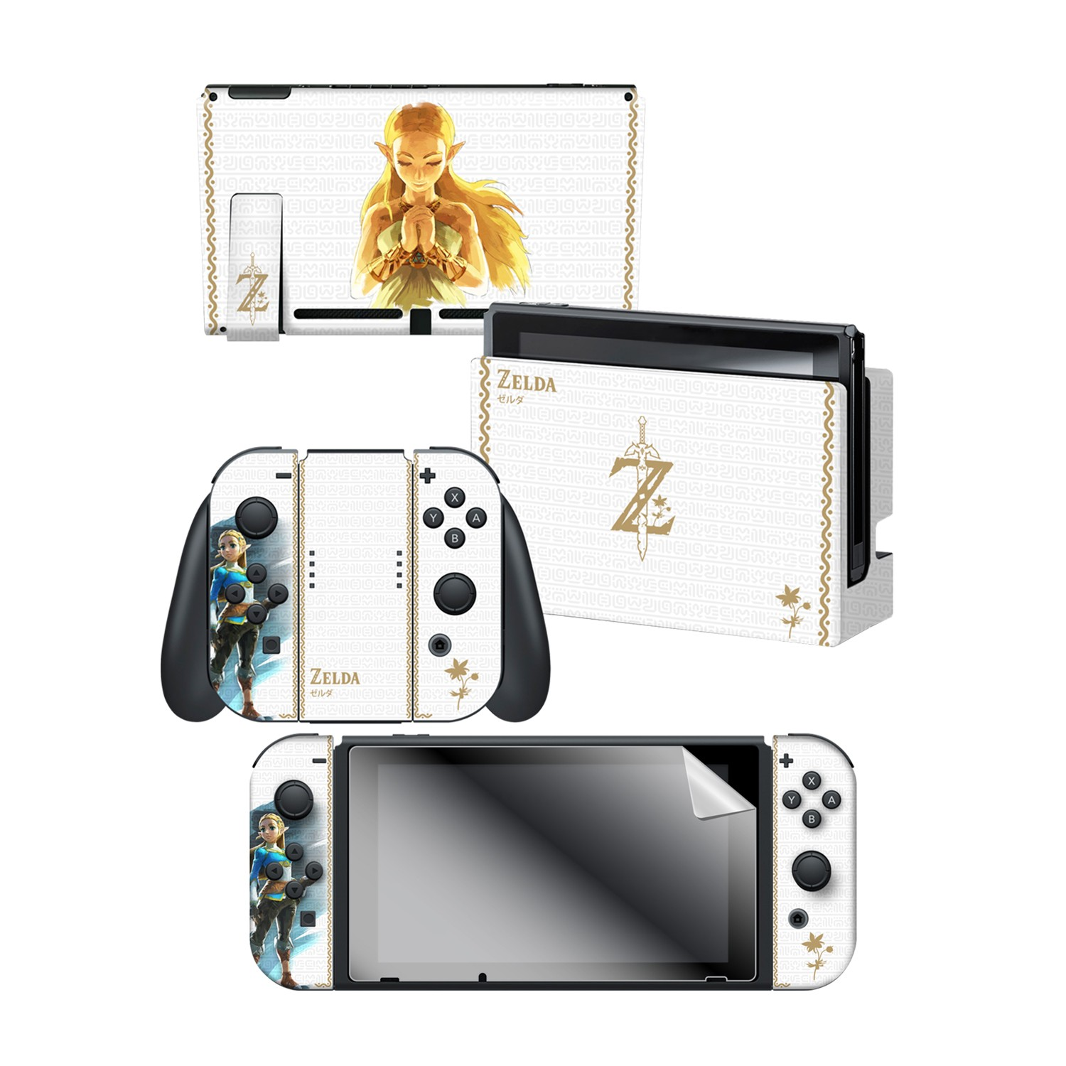The Legend Of Zelda Breath Of The Wild Princess Zelda Nintendo Switch Console Skin Dock Skin Joy Con Skin Joy Con Grip Skin Screen