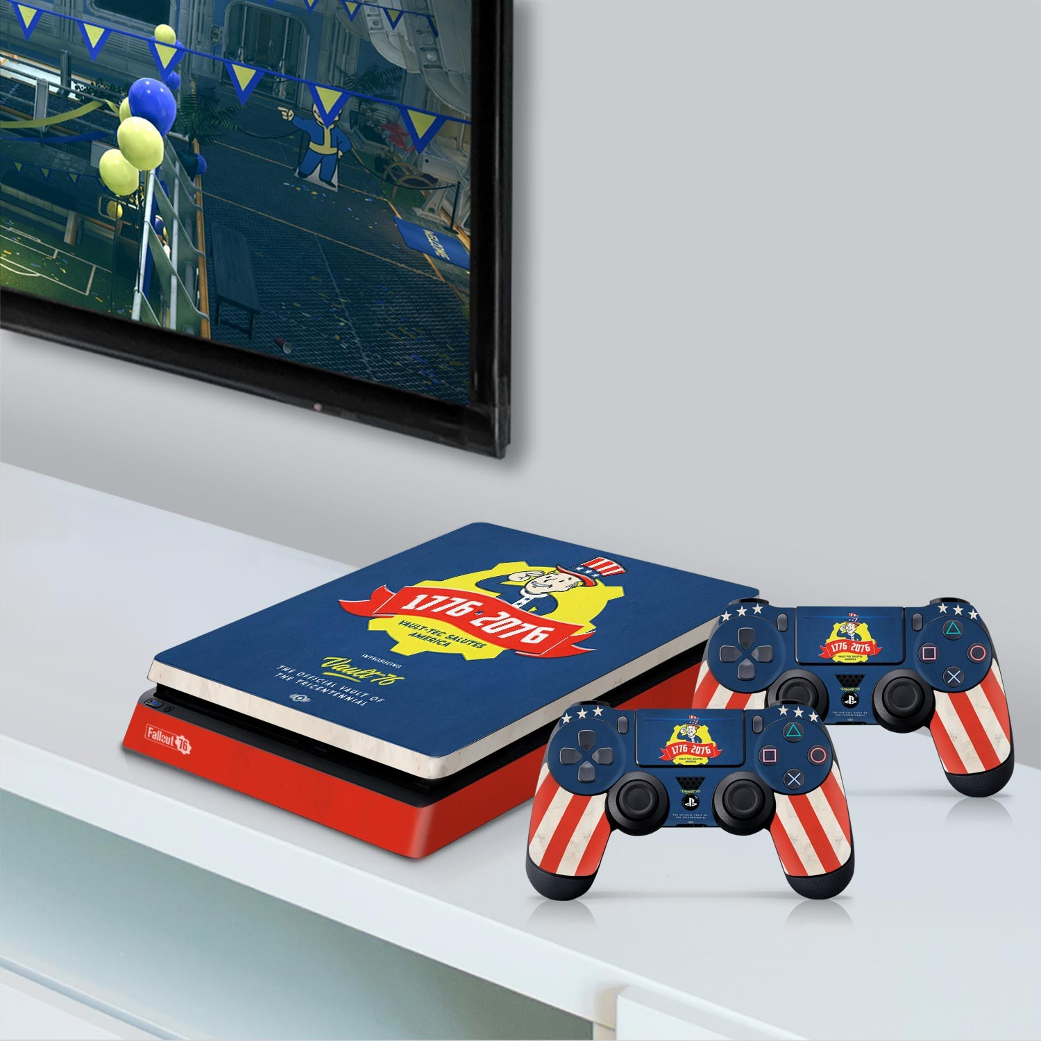 Officially Licensed Console Skin Bundle for PS4 Slim - Fallout 76 - Tricentennial