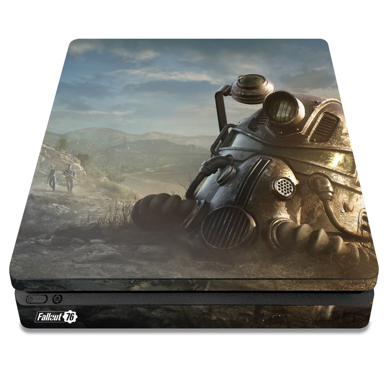 Officially Licensed Console Skin Bundle for PS4 Slim - Fallout 76 - Power Armor Helmet