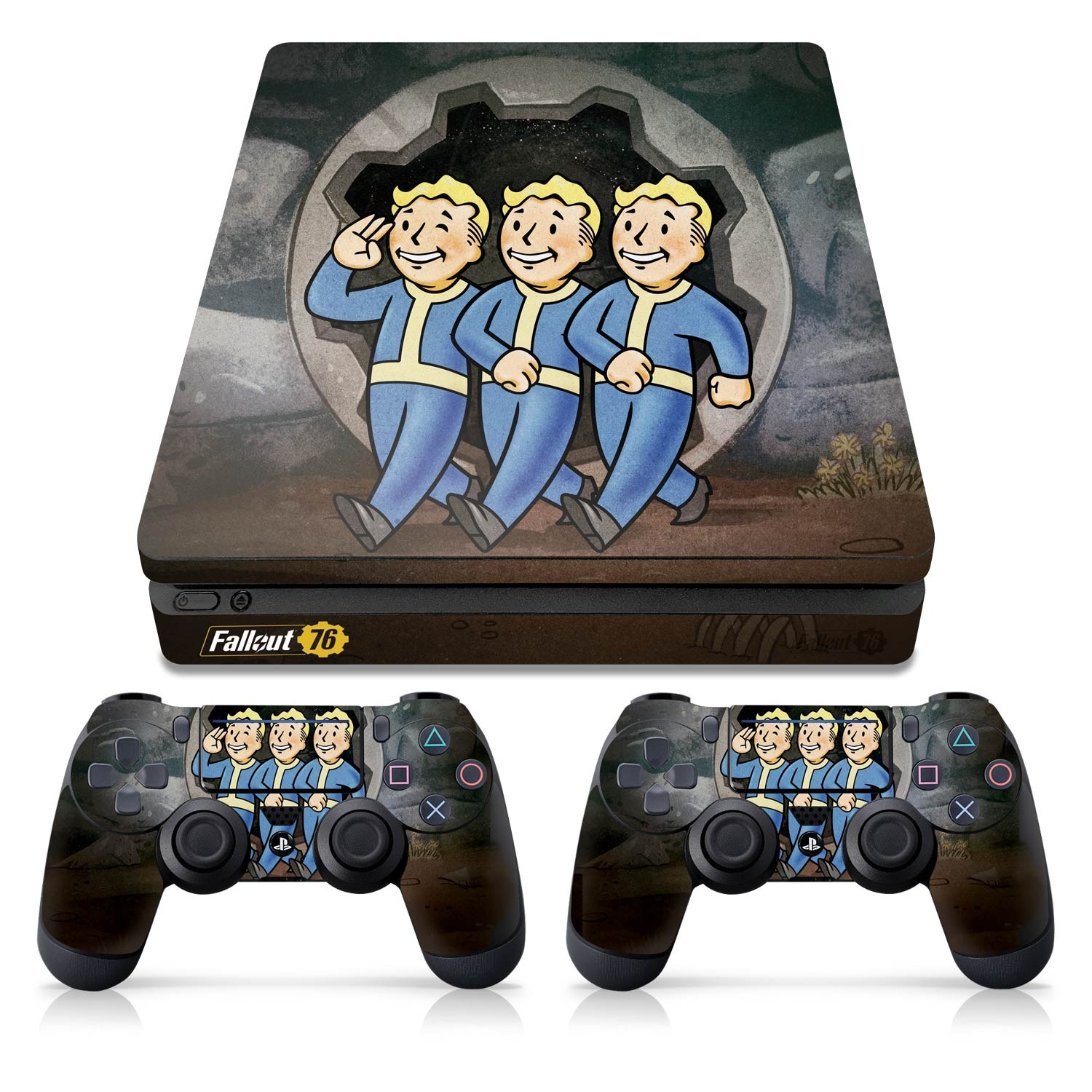 Officially Licensed Console Skin Bundle for PS4 Slim - Fallout 76 - Vault Boys