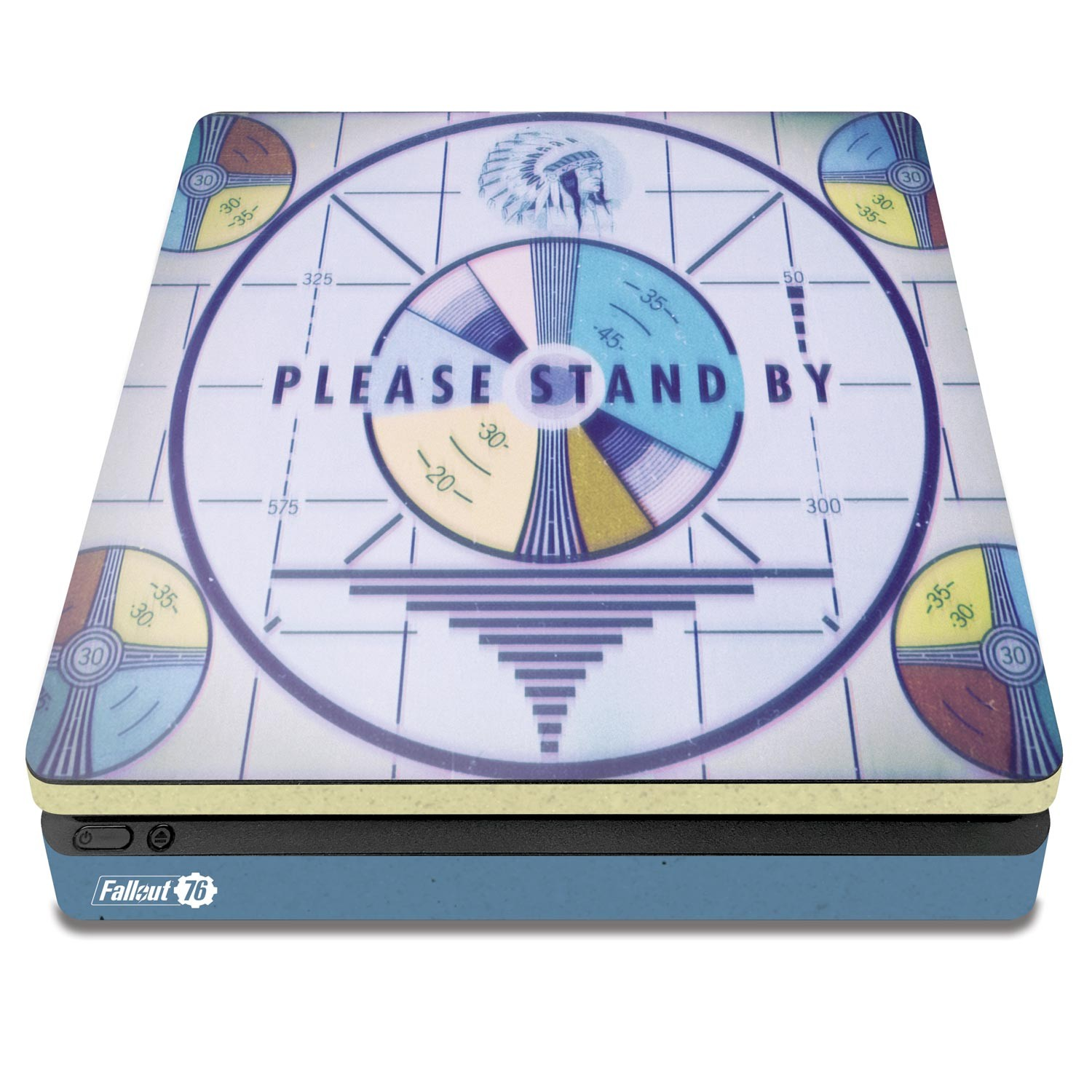 Officially Licensed Console Skin Bundle for PS4 Slim - Fallout 76 - Please Stand By