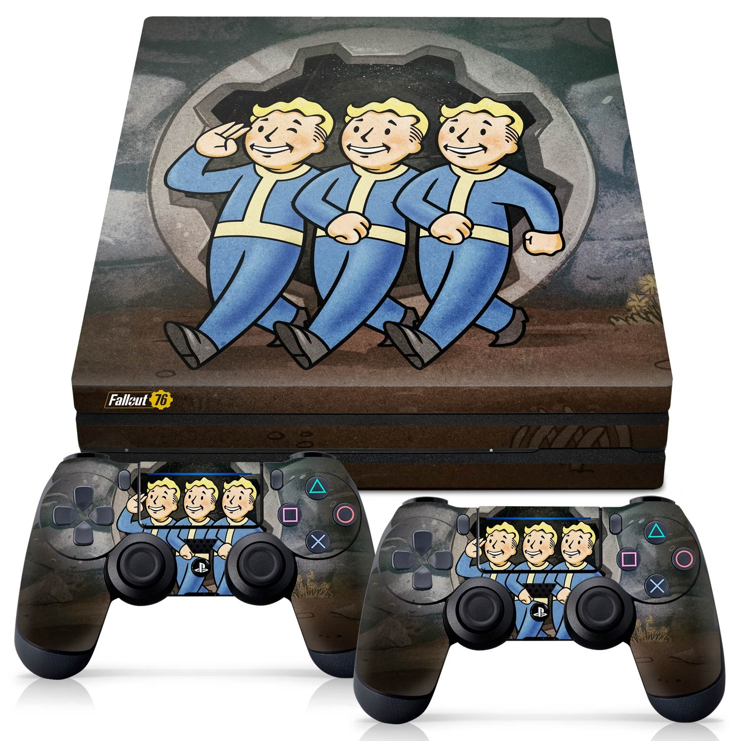 Officially Licensed Console Skin Bundle for PS4 Pro - Fallout 76 - Vault Boys
