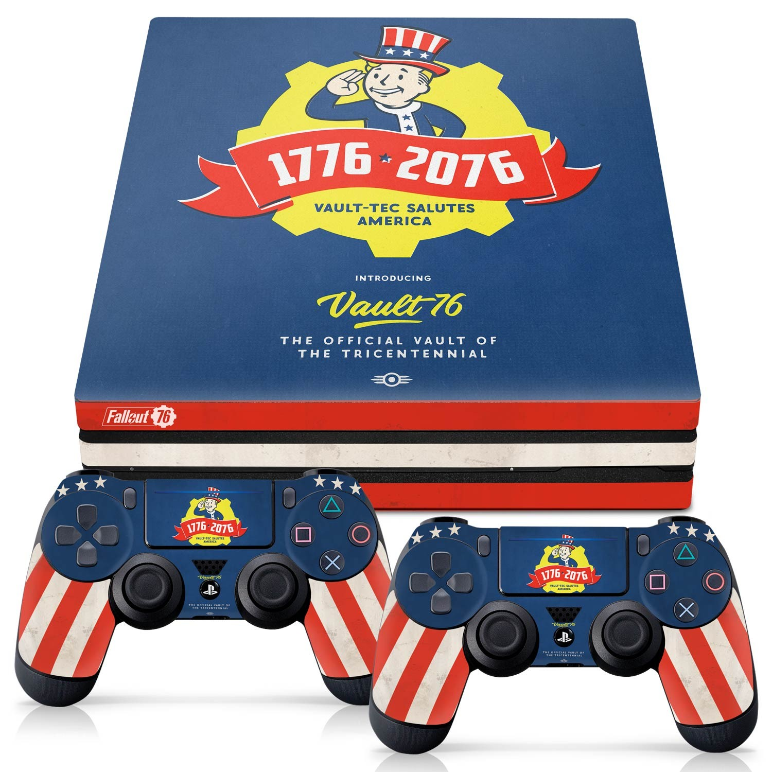 Officially Licensed Console Skin Bundle for PS4 Pro - Fallout 76 - Tricentennial