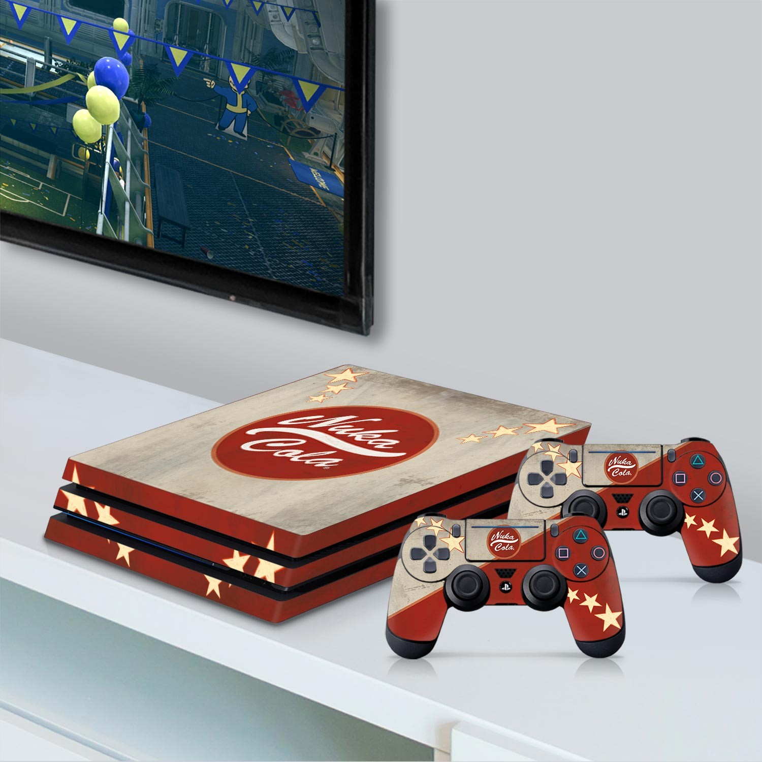 Officially Licensed Console Skin Bundle for PS4 Pro - Fallout - Nuka Cola
