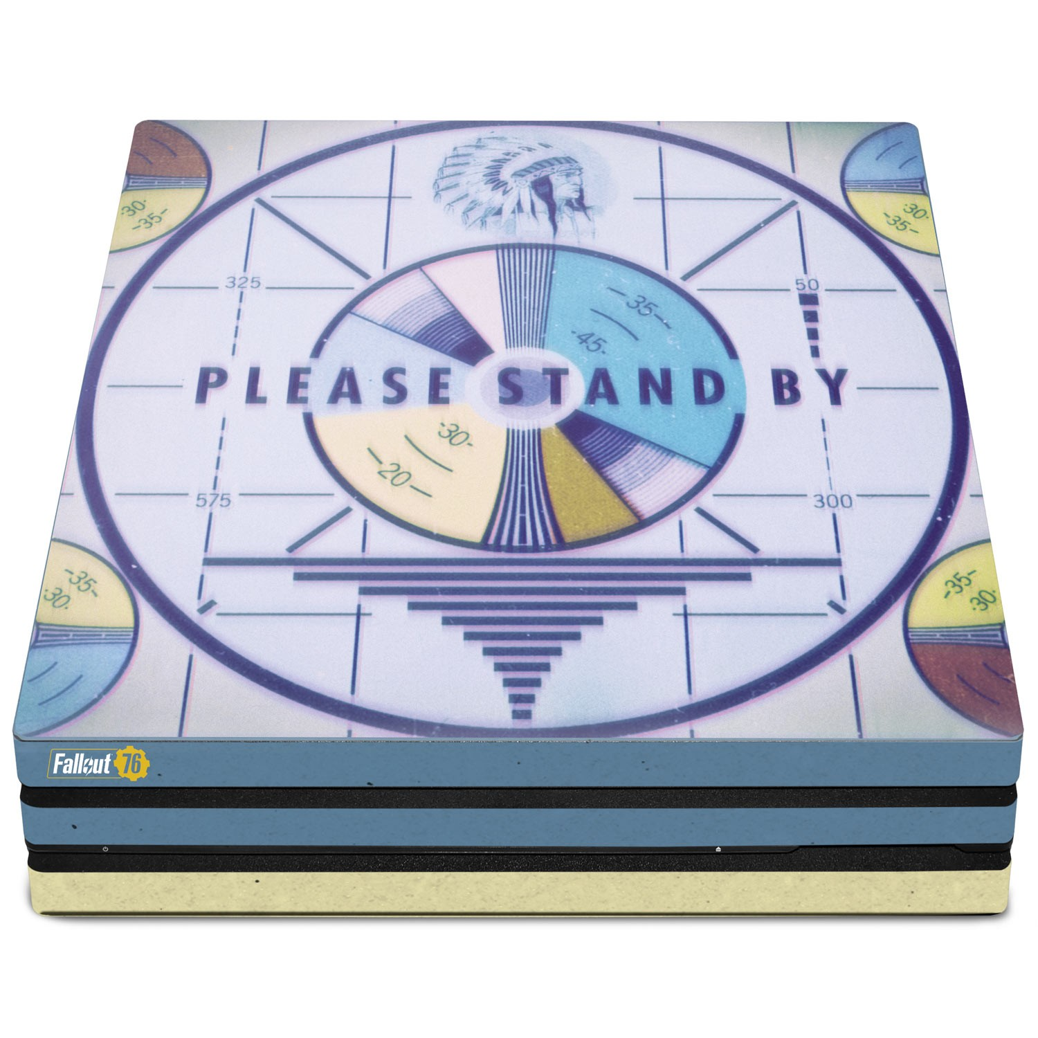 Officially Licensed Console Skin Bundle for PS4 Pro - Fallout 76 - Please Stand By
