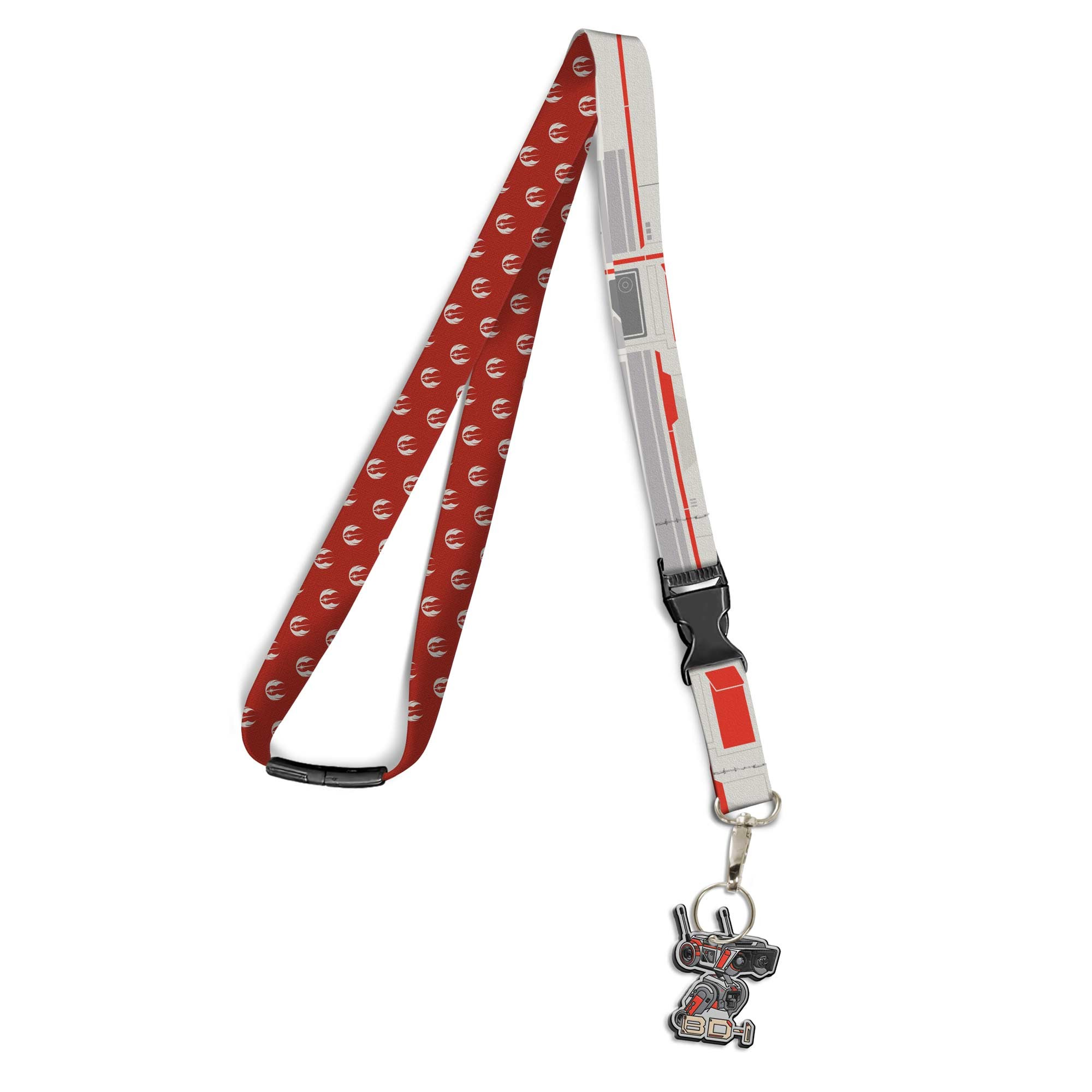 Star Wars Lanyard and Charm with a Jedi Fallen Order BD-1 Design, Image 1