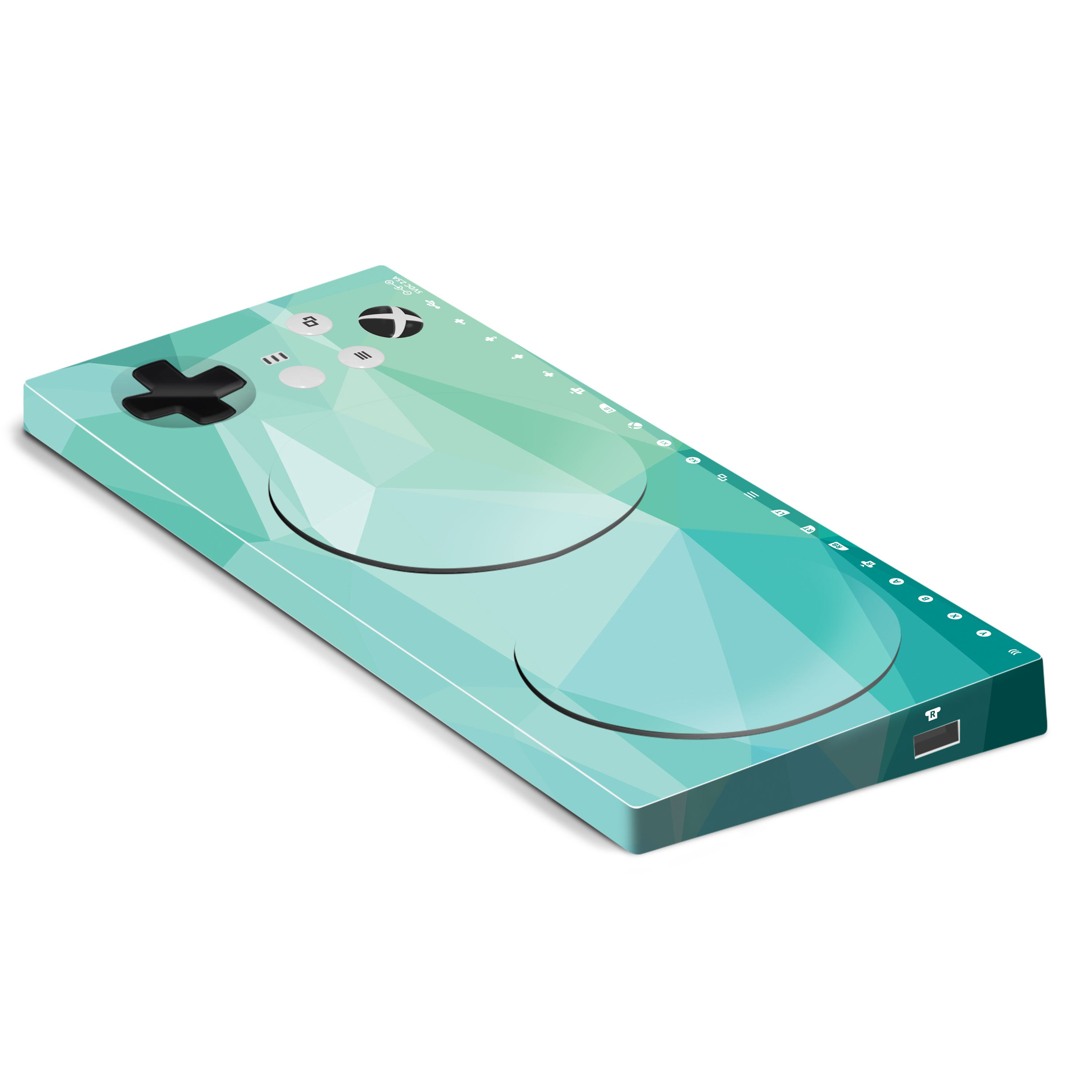 Xbox Adaptive Controller Skin: Teal Poly