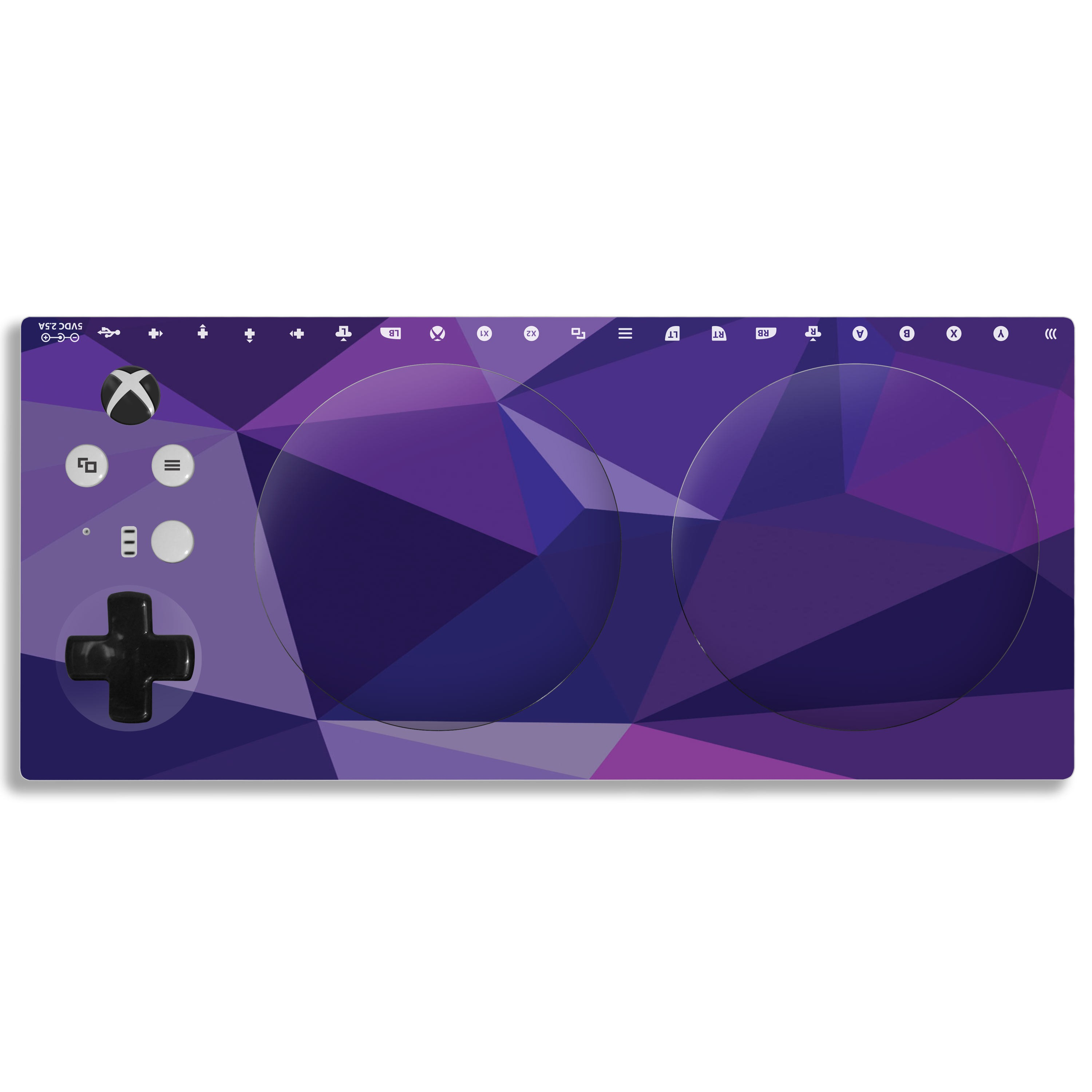 Xbox Adaptive Controller Skin: Purple Poly