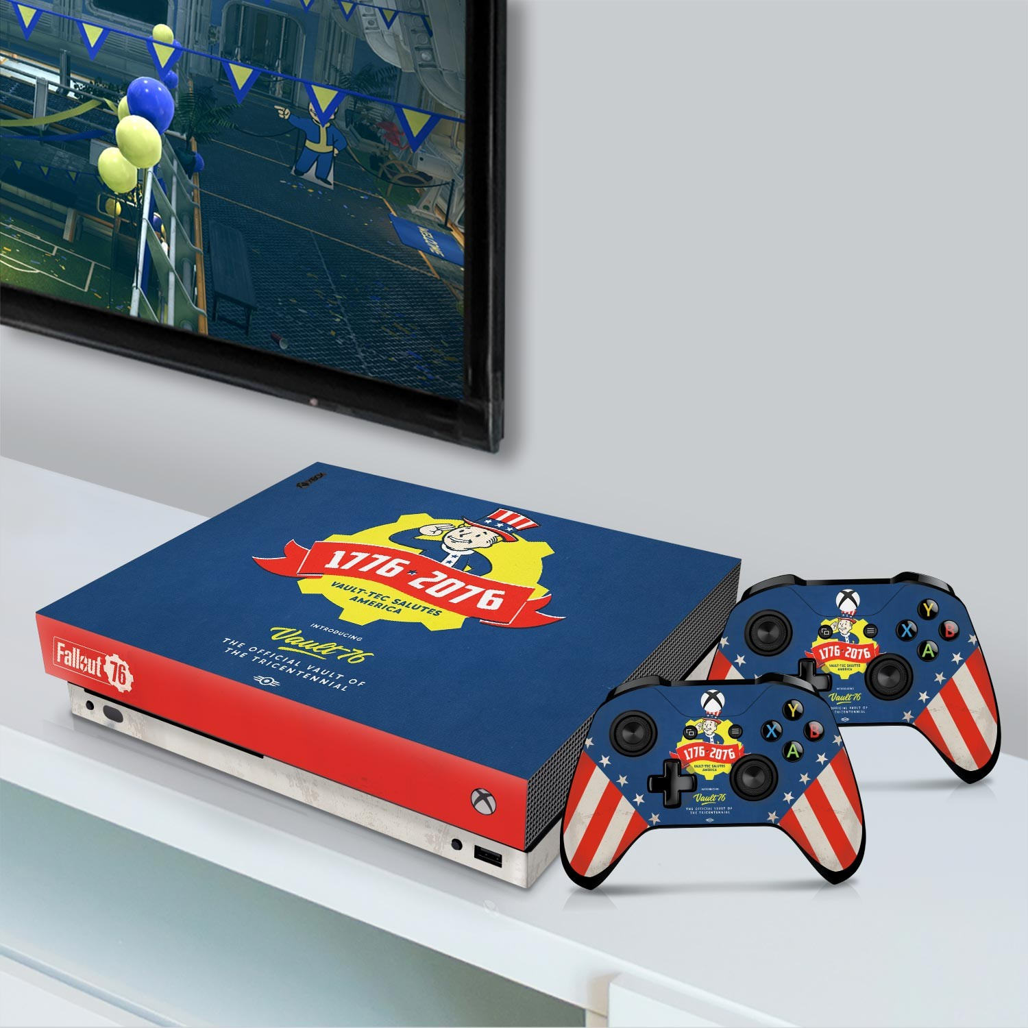 Officially Licensed Console Skin Bundle for Xbox One X - Fallout 76 - Tricentennial