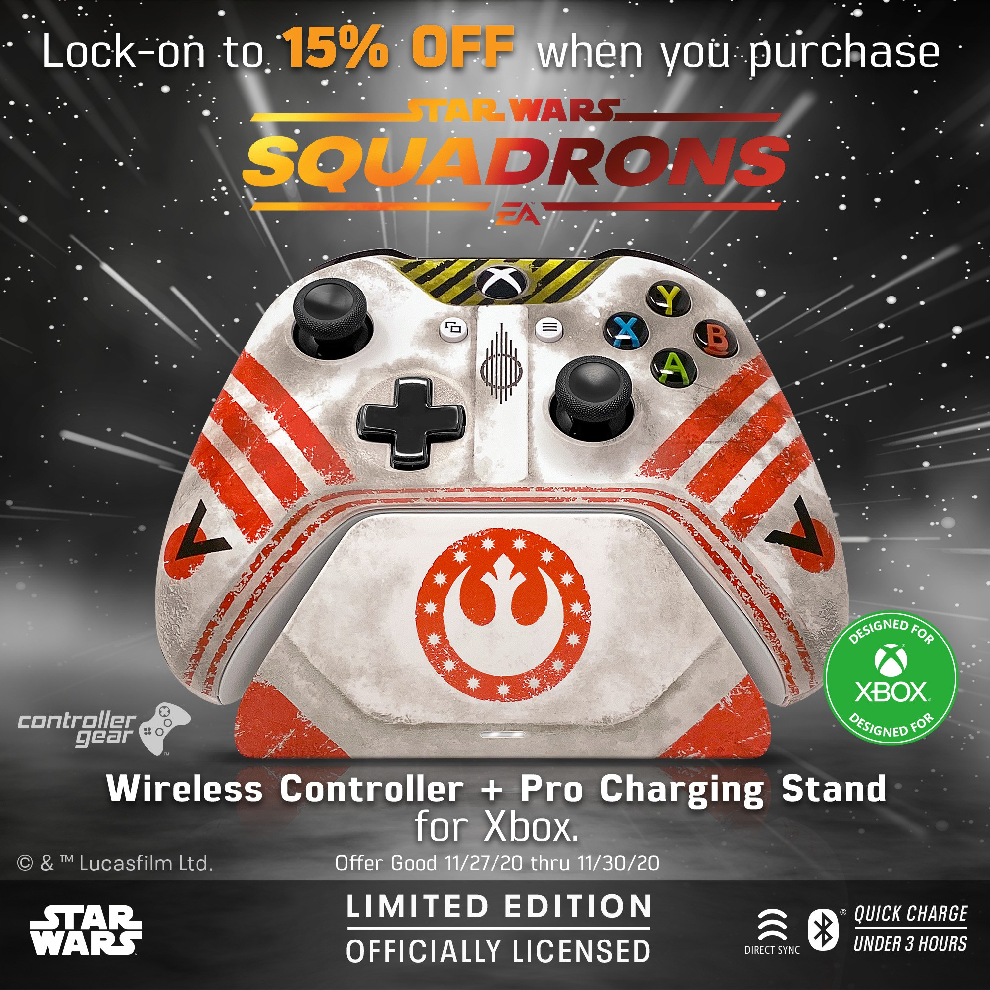 Wireless Controller and Pro Charging Stand for Xbox - Star Wars Squadrons
