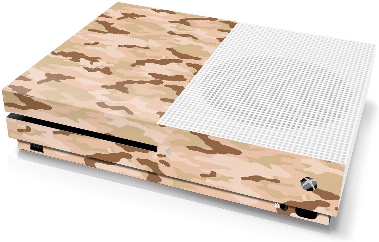 Xbox One S Console Skin - Camouflage Desert - Officially Licensed by Xbox