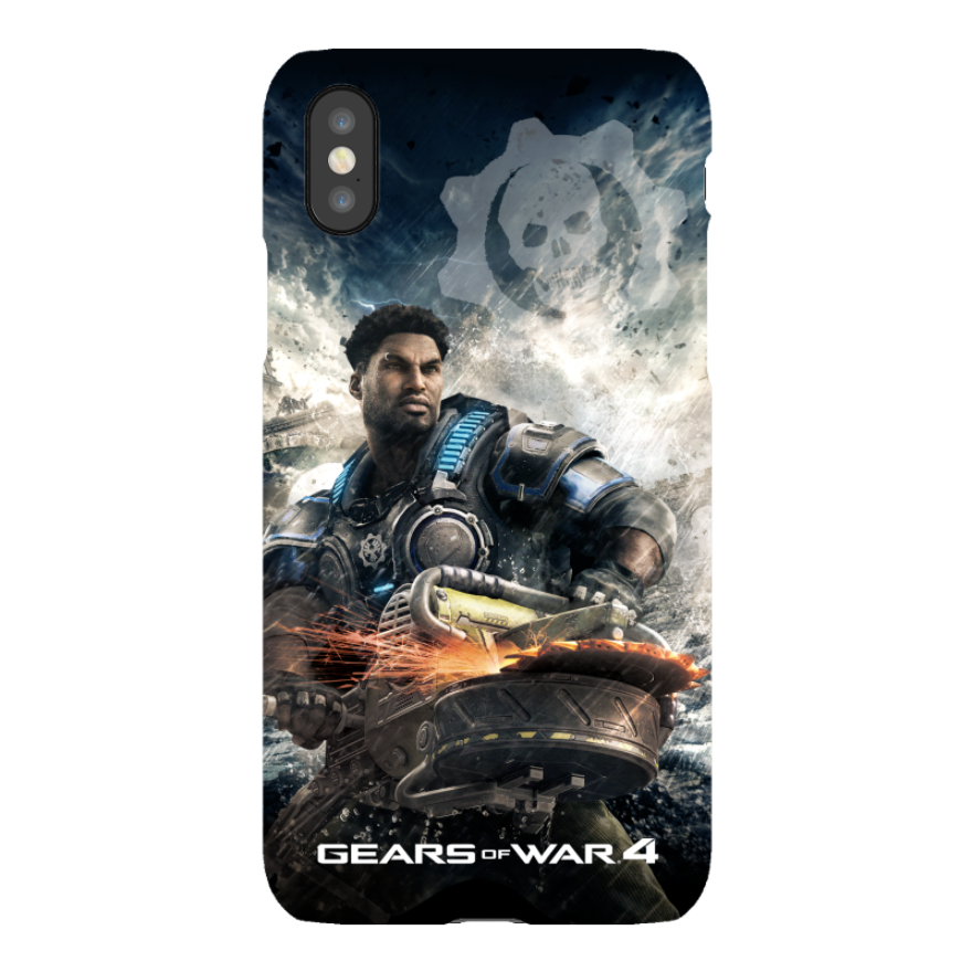 iPhone X Tough Case Matte: Gears of War 4 Del Hacksaw