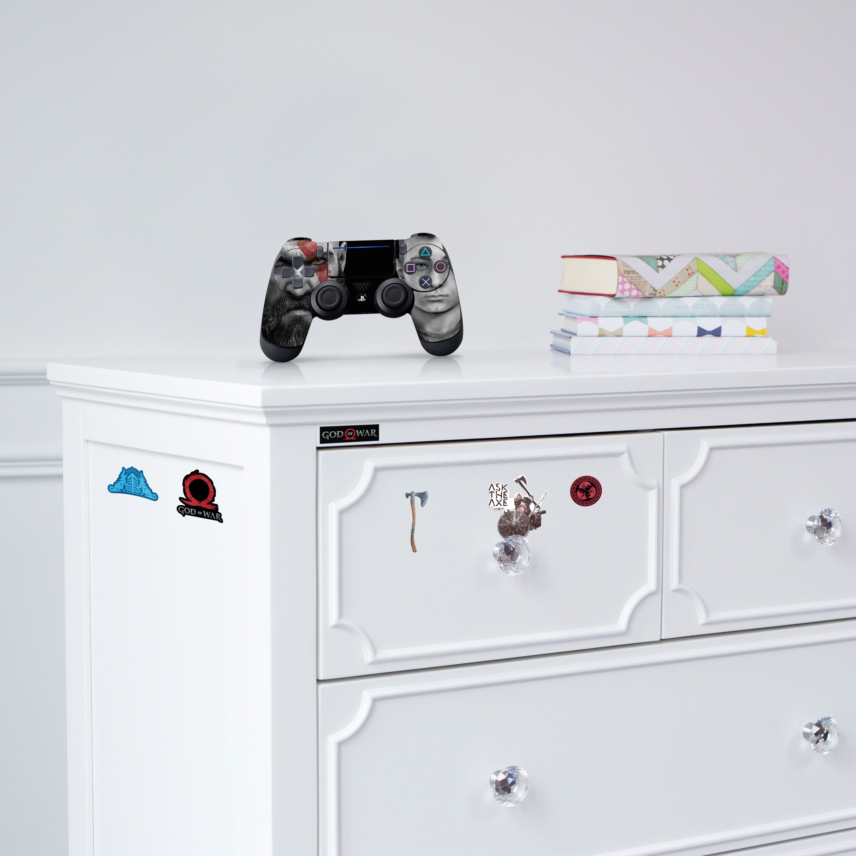 PS4 Controller Skin and Tech Decals - God of War Father and Son