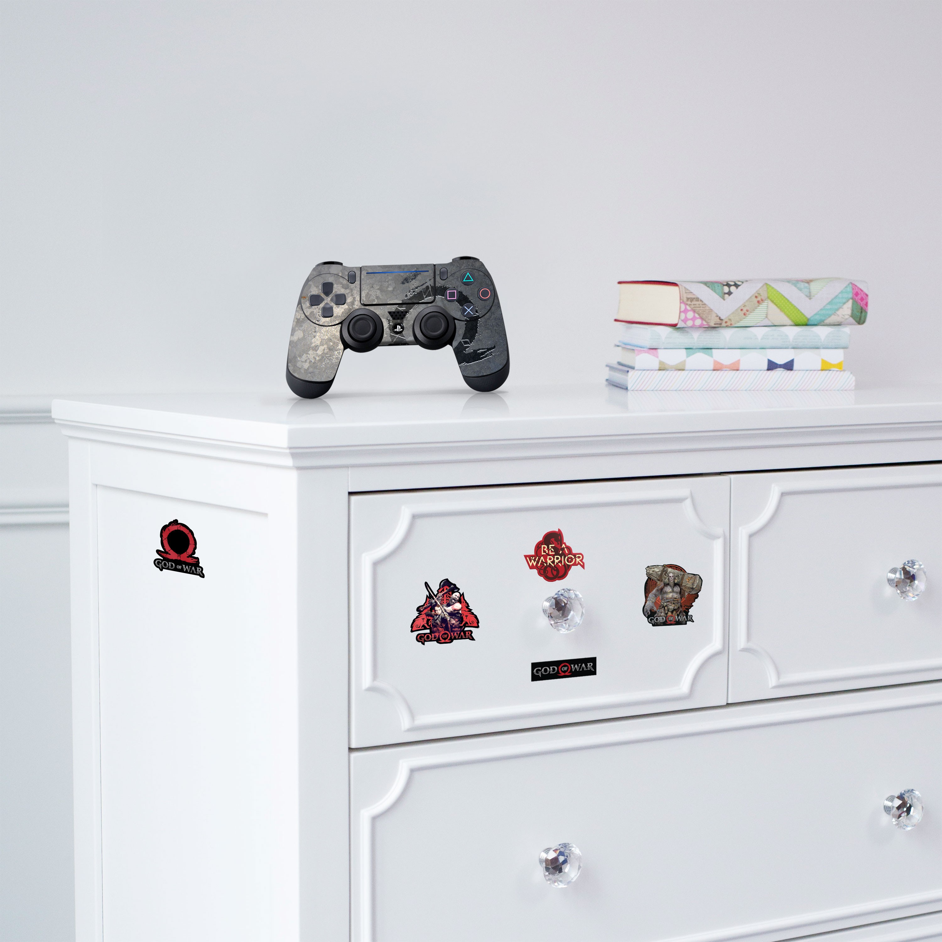 """Officially Licensed PlayStation 4 God of War DUALSHOCK 4 Wireless Controller Skin and Tech Decals """"Steel Dragon"""""""