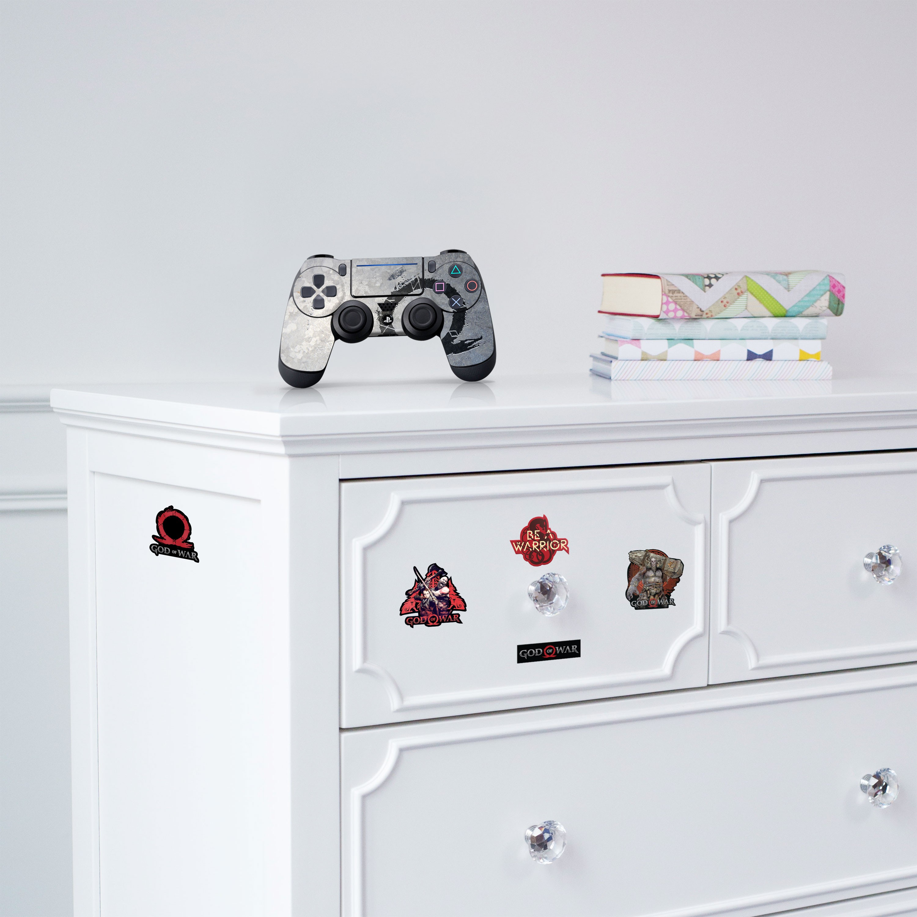 """Officially Licensed PlayStation 4 God of War DUALSHOCK 4 Wireless Controller Skin and Tech Decals """"Stone Dragon"""""""
