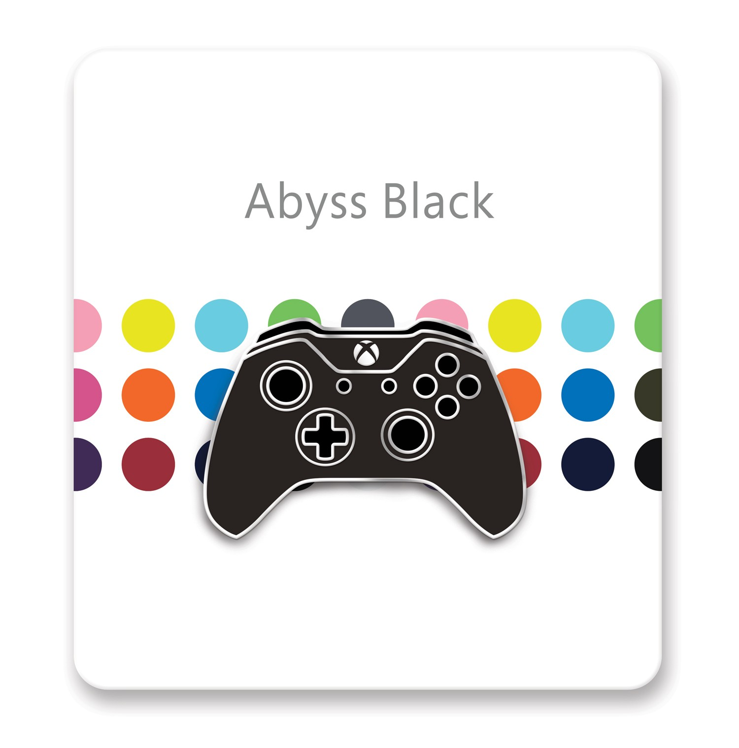 Xbox One Controller Lapel Pin – Xbox Design Lab Abyss Black – Officially Licensed By Xbox