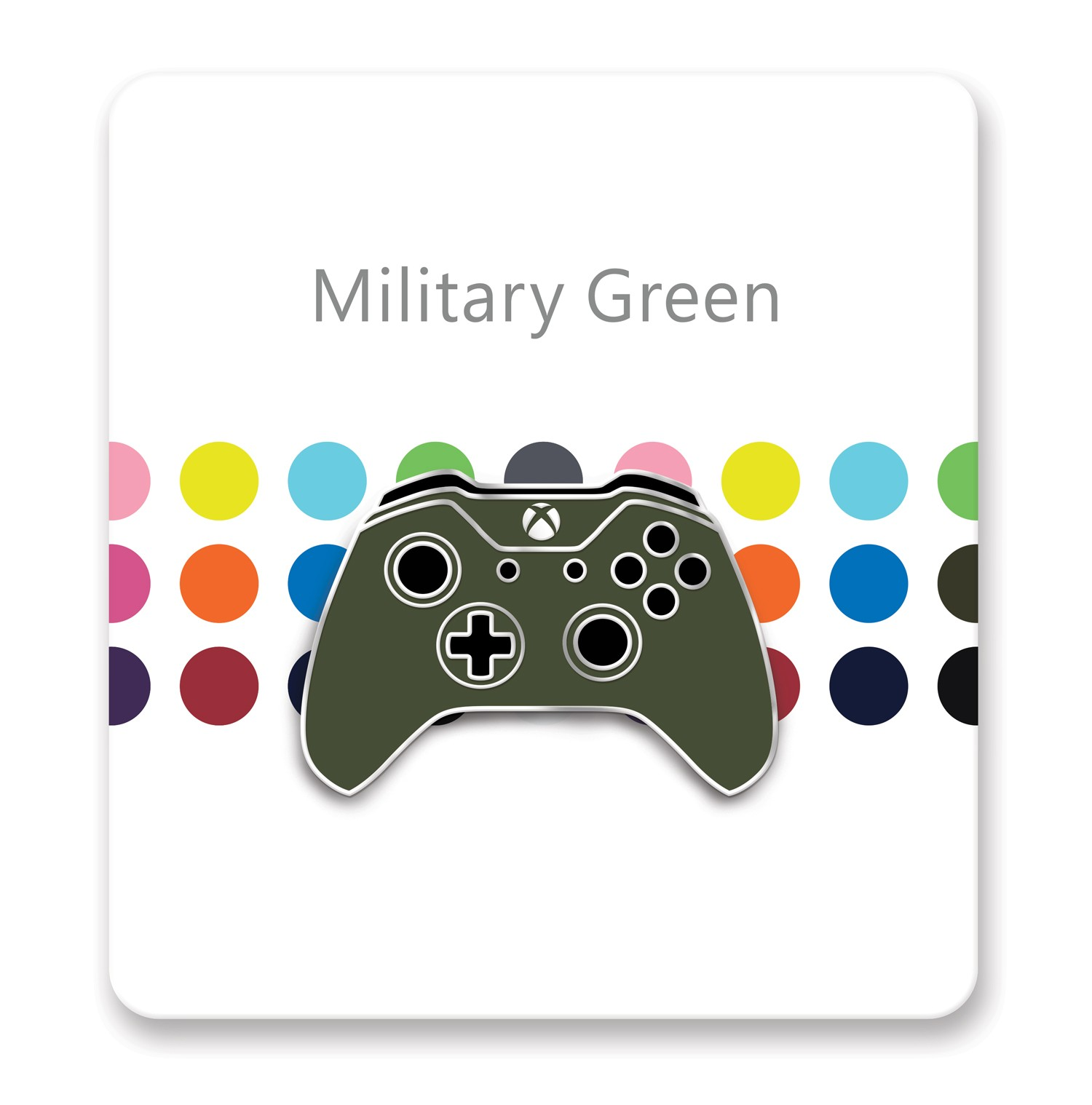 Xbox One Controller Lapel Pin – Xbox Design Lab Military Green – Officially Licensed By Xbox