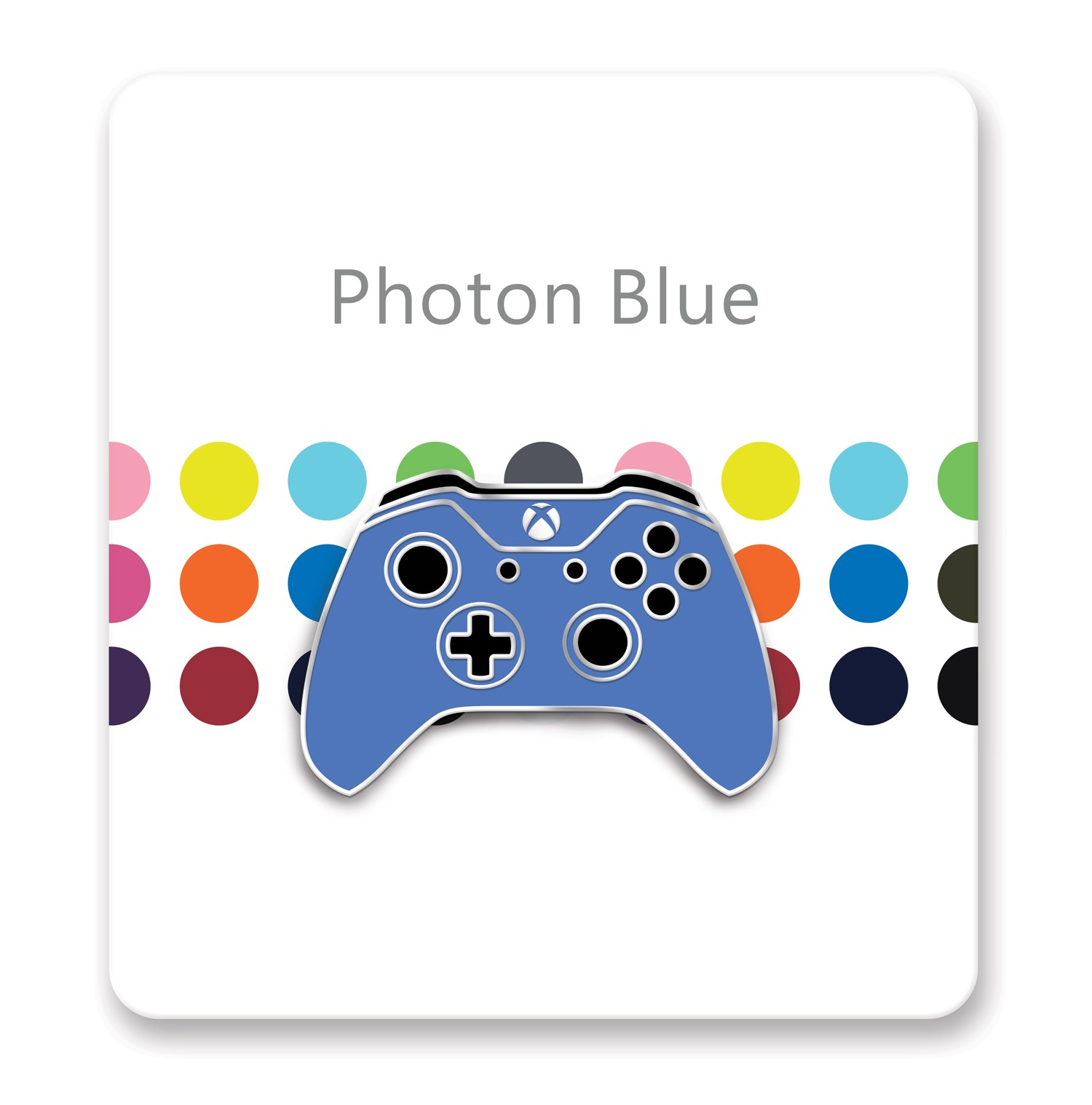 Xbox One Controller Lapel Pin – Xbox Design Lab Photon Blue – Officially Licensed By Xbox