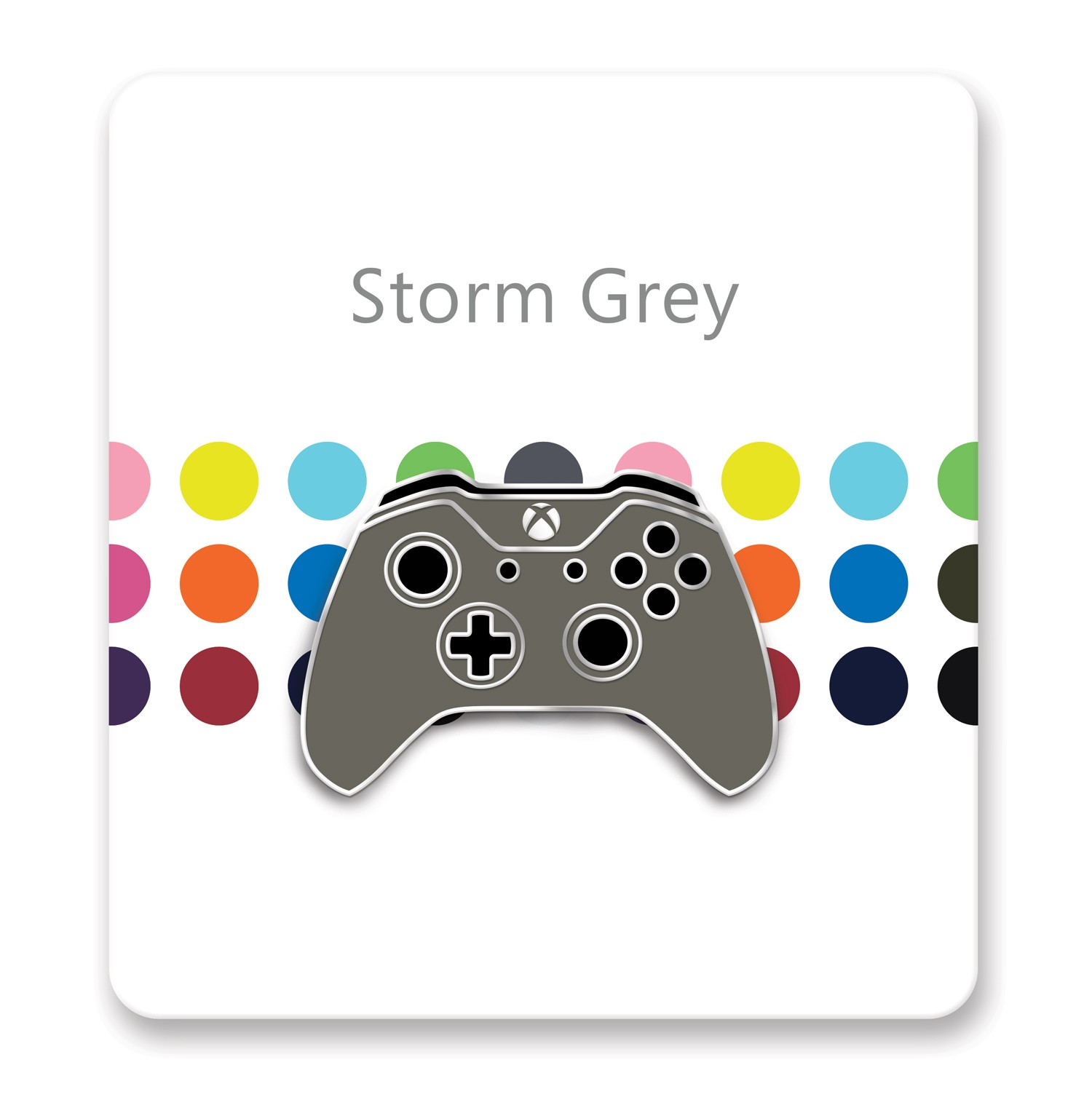 Xbox One Controller Lapel Pin – Xbox Design Lab Storm Grey – Officially Licensed By Xbox