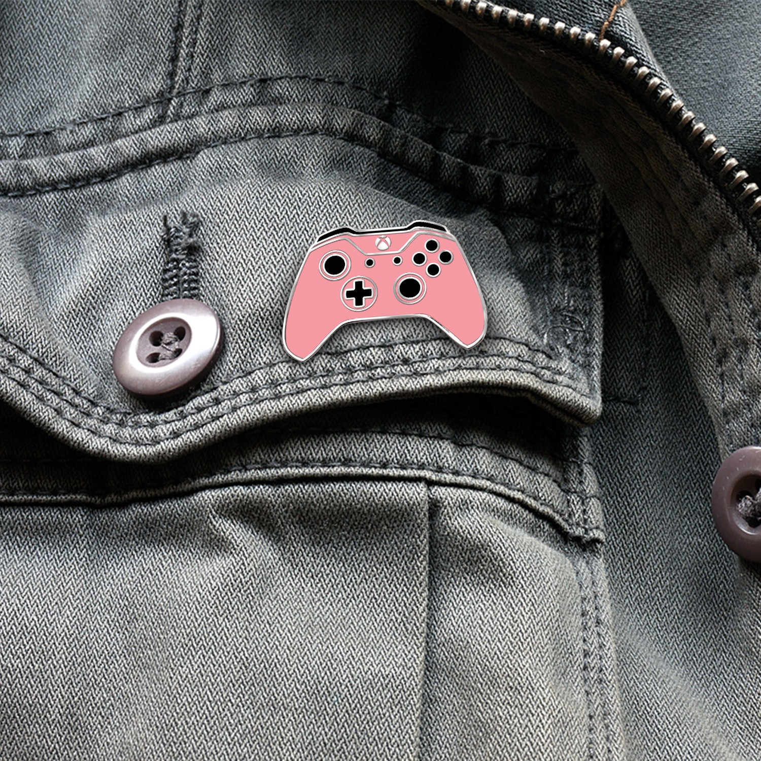 Xbox One Controller Lapel Pin – Xbox Design Lab Retro Pink – Officially Licensed By Xbox