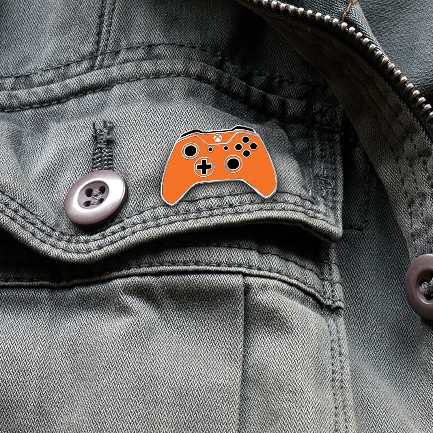 Xbox One Controller Lapel Pin – Xbox Design Lab Zest Orange – Officially Licensed By Xbox