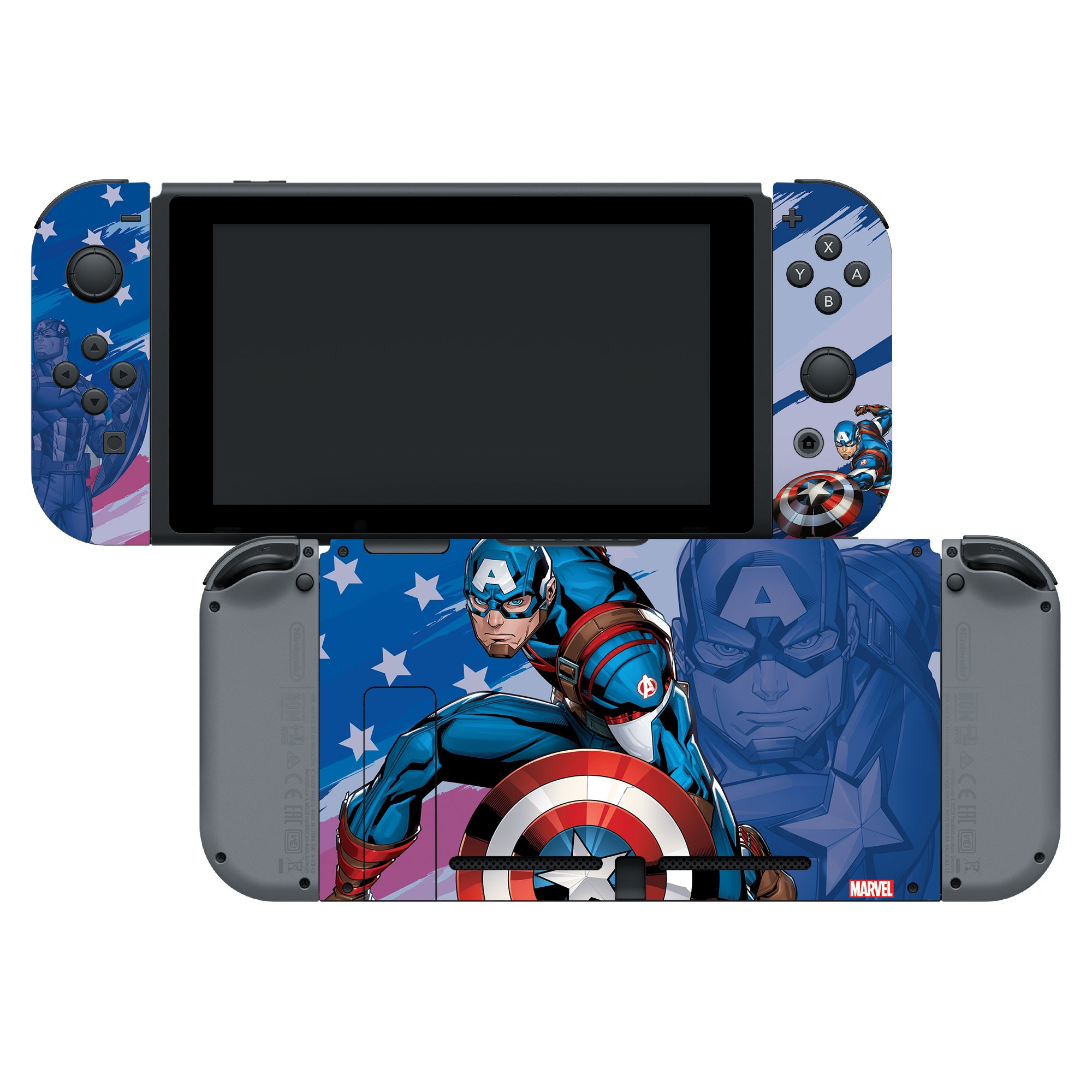 """Authentic and Official Licensed Nintendo Switch Skin Marvel - Captain America """"Opportunity"""""""