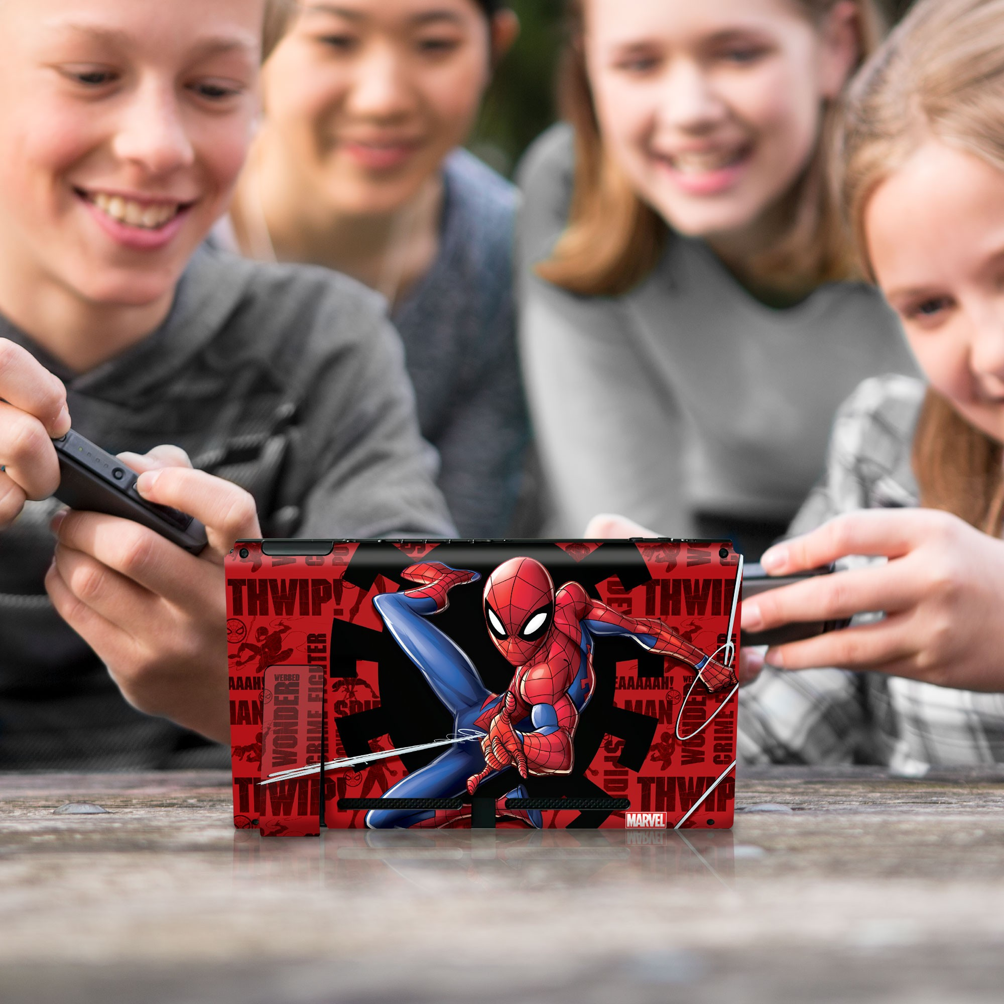 """Authentic and Official Licensed Nintendo Switch Skin Marvel - Spider-Man """"Web Slinger"""""""