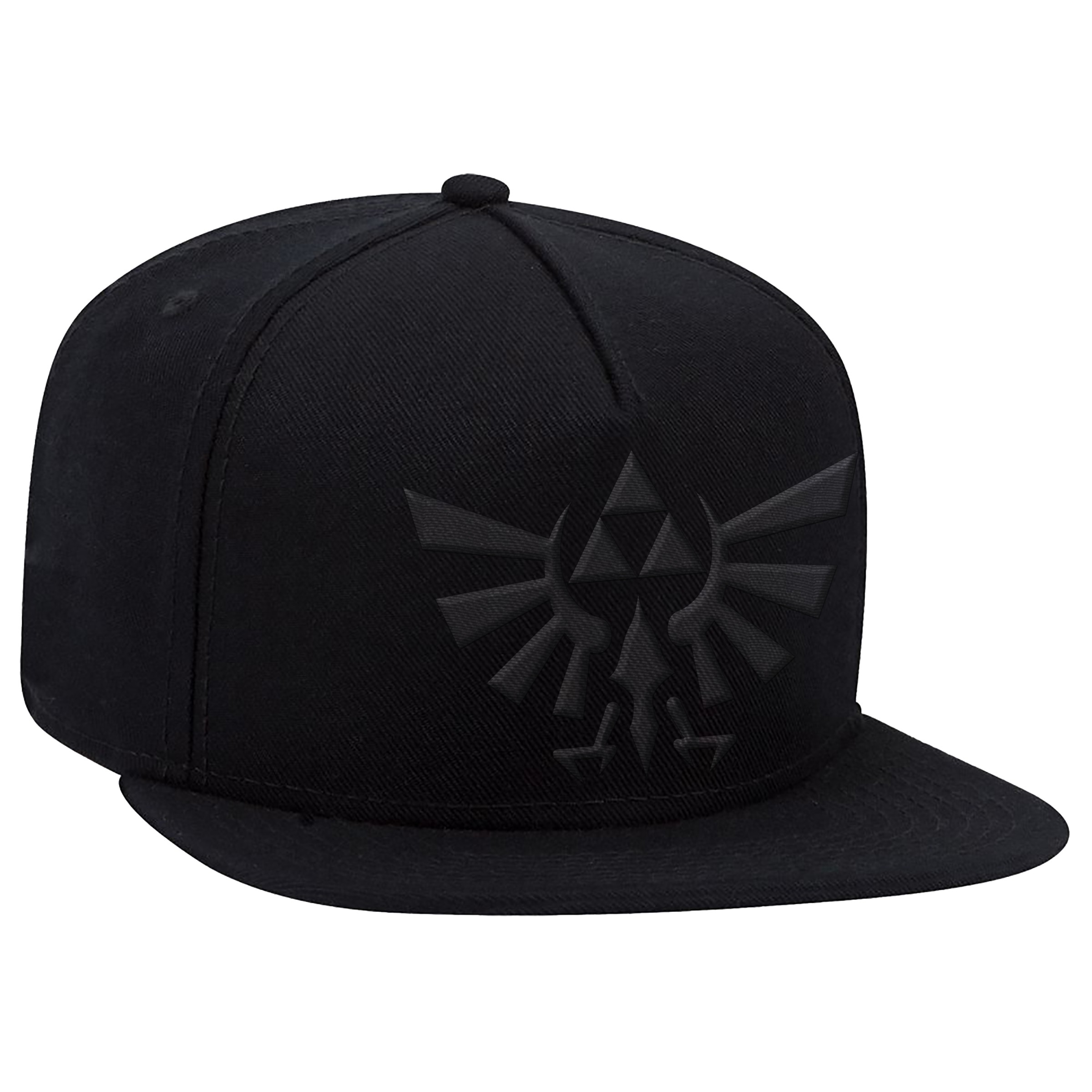 "The Legend of Zelda™ ""Black Hyrule Crest"" Flat Bill Hat - Officially Licensed by Nintendo"