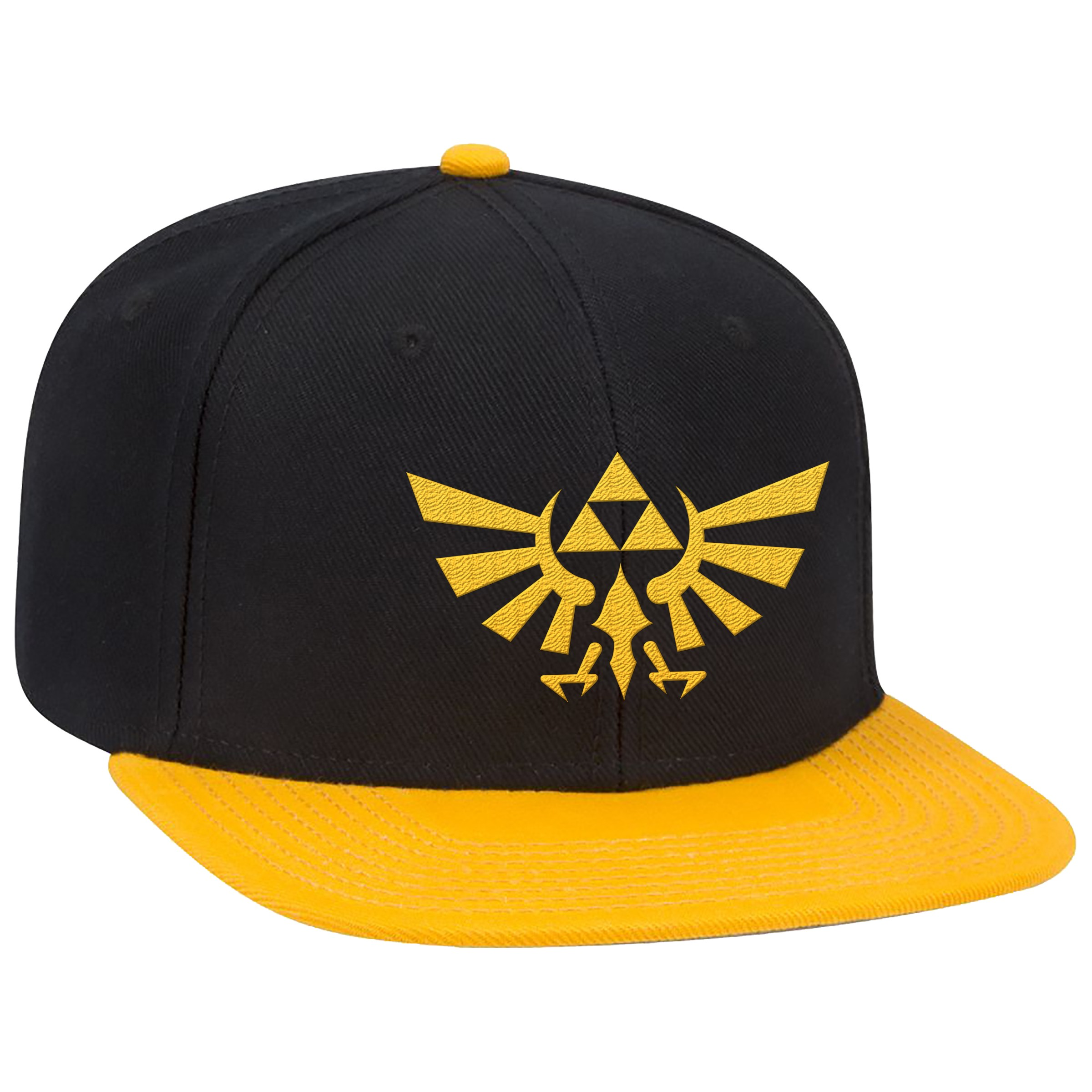 "The Legend of Zelda™ ""Yellow Hyrule Crest"" Flat Bill Hat - Officially Licensed by Nintendo"