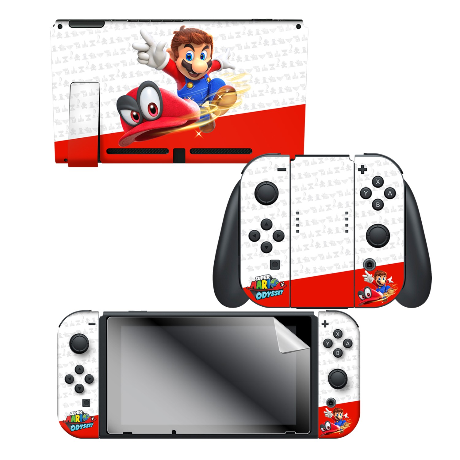 Super Mario Odyssey Odyssey Nintendo Switch Console Skin Joy Con Skin Joy Con Grip Skin Screen Protector Bundle Assortment Officially
