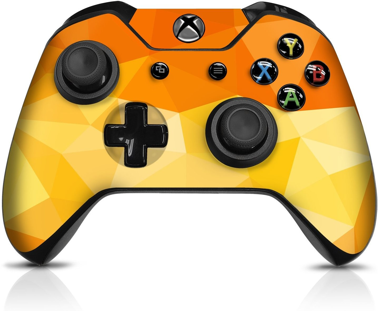Orange Poly  Xbox One Controller Skin - Officially Licensed by Xbox - Controller Gear