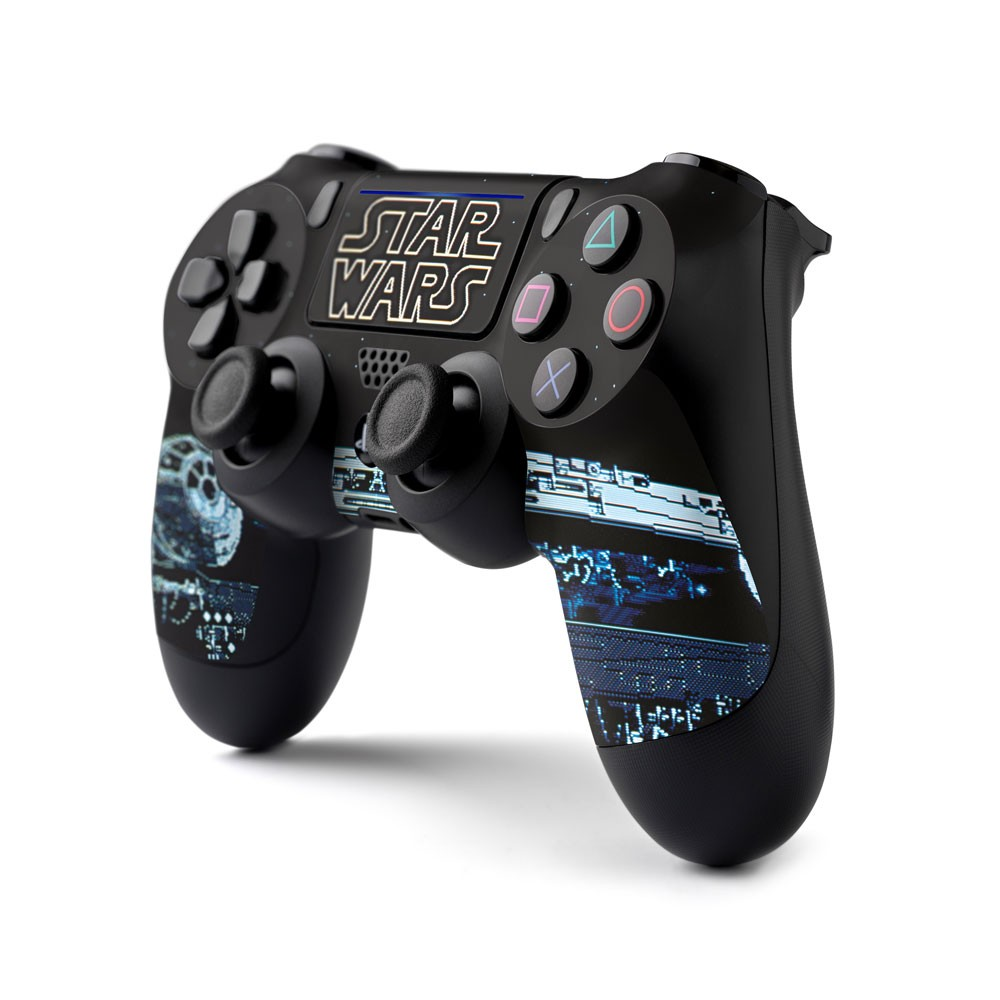 PS4 Controller Skin with a Star Wars Millennium Falcon Design, Image 1