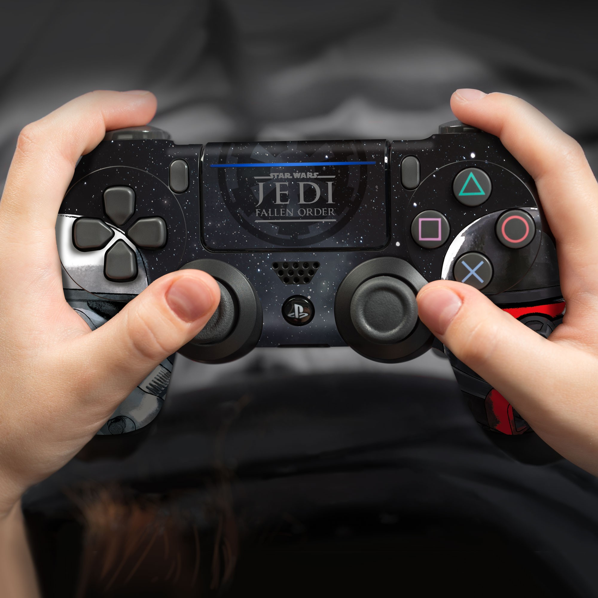 PS4 Controller Skin with a Star Wars Jedi Fallen Order Empire Troopers Design, Image 1
