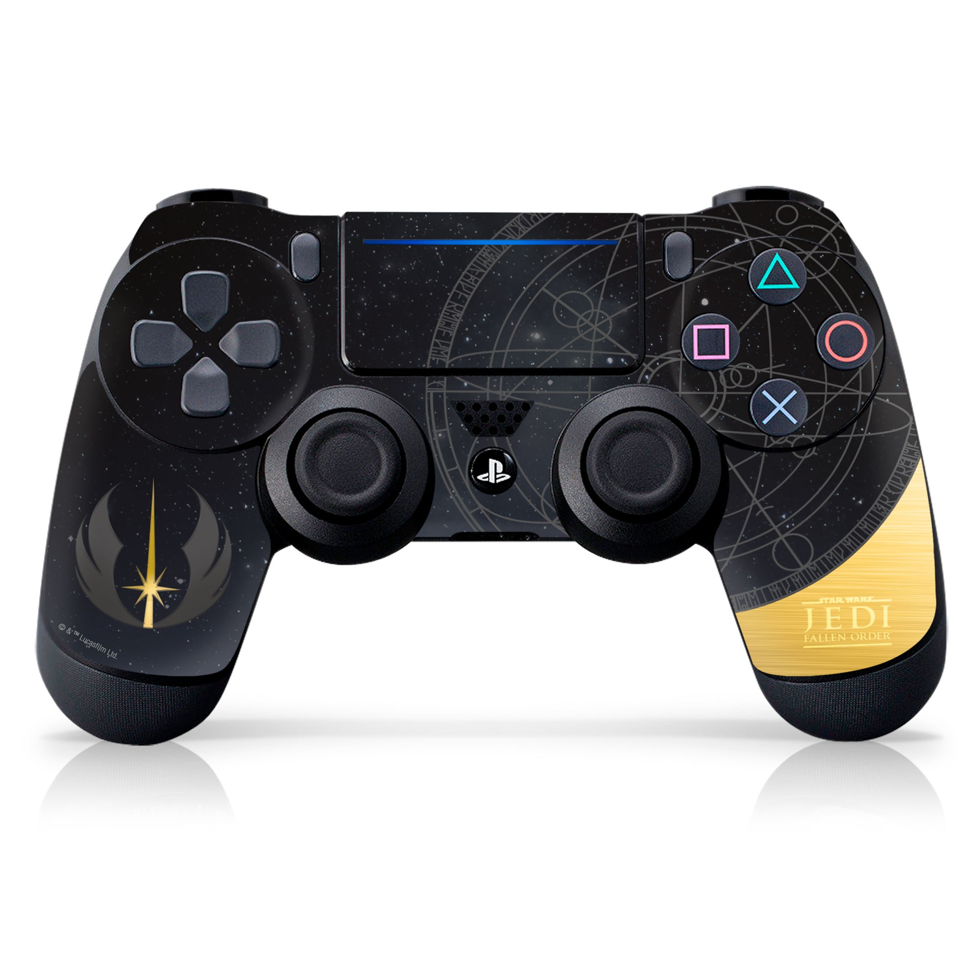 PS4 Controller Skin with a Star Wars Fallen Order Jedi Starfield Design, Image 1