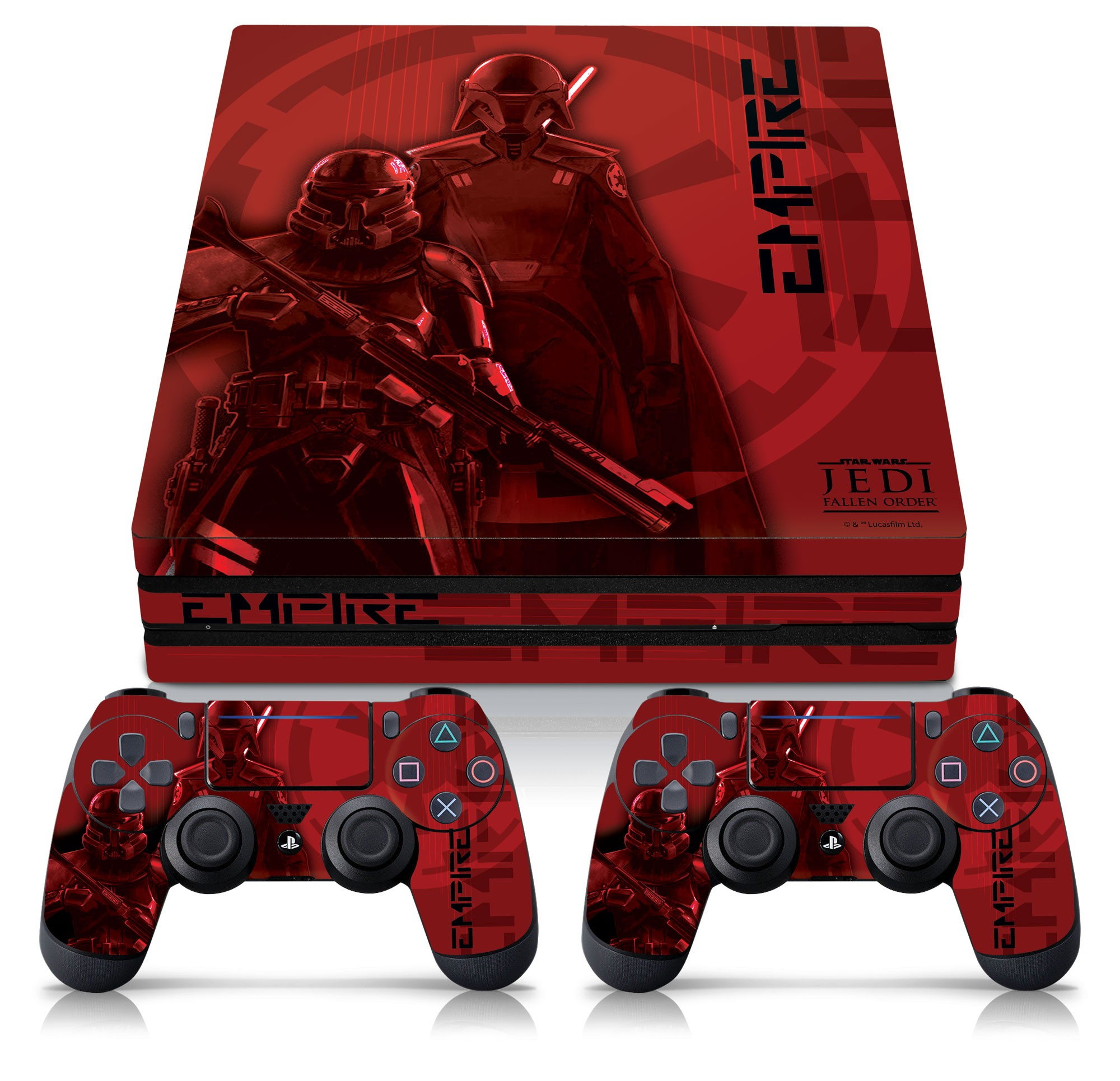 PS4 Pro Console & Controller Skin with a Star Wars Jedi Fallen Order Inquisitor/Purge Trooper Design, Image 1