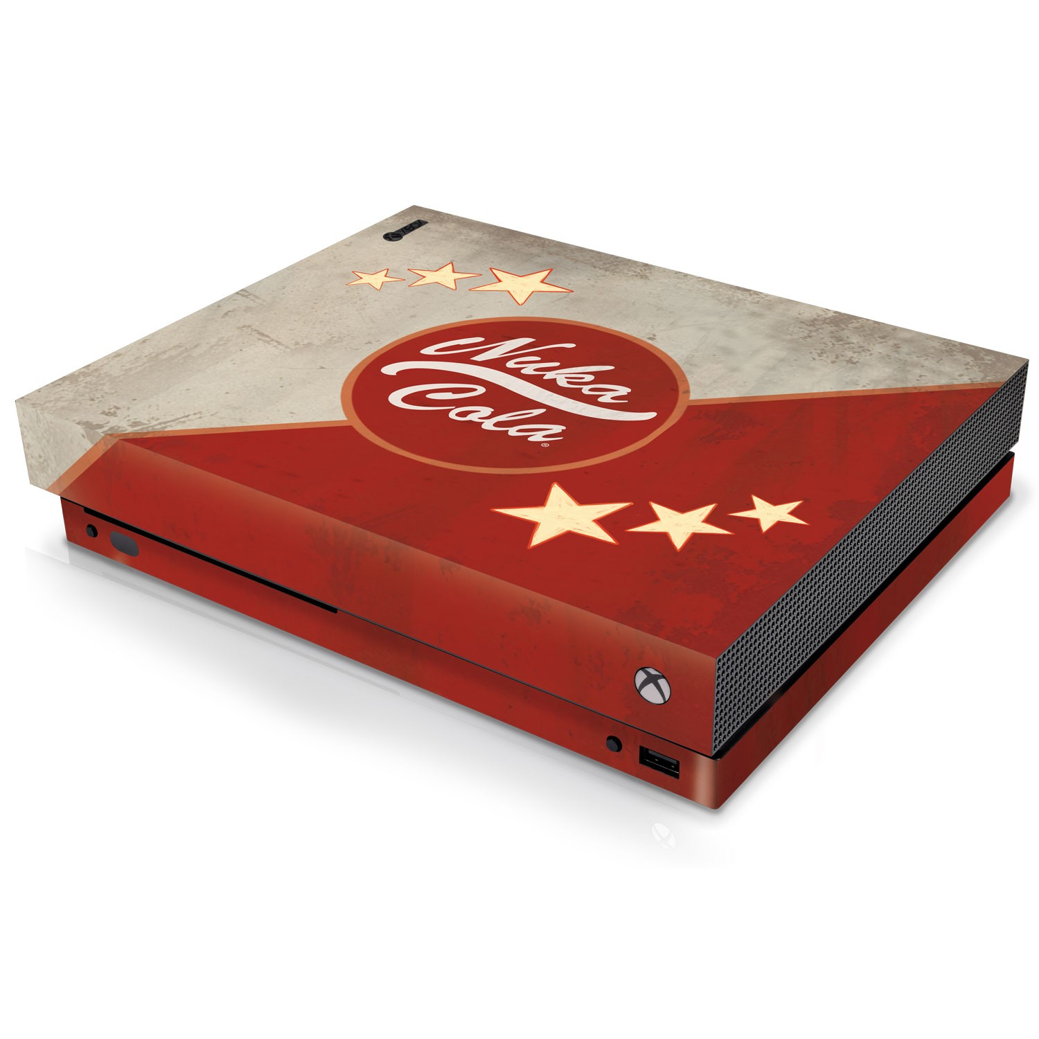 Officially Licensed Console Skin Bundle for Xbox One X - Fallout - Nuka Cola