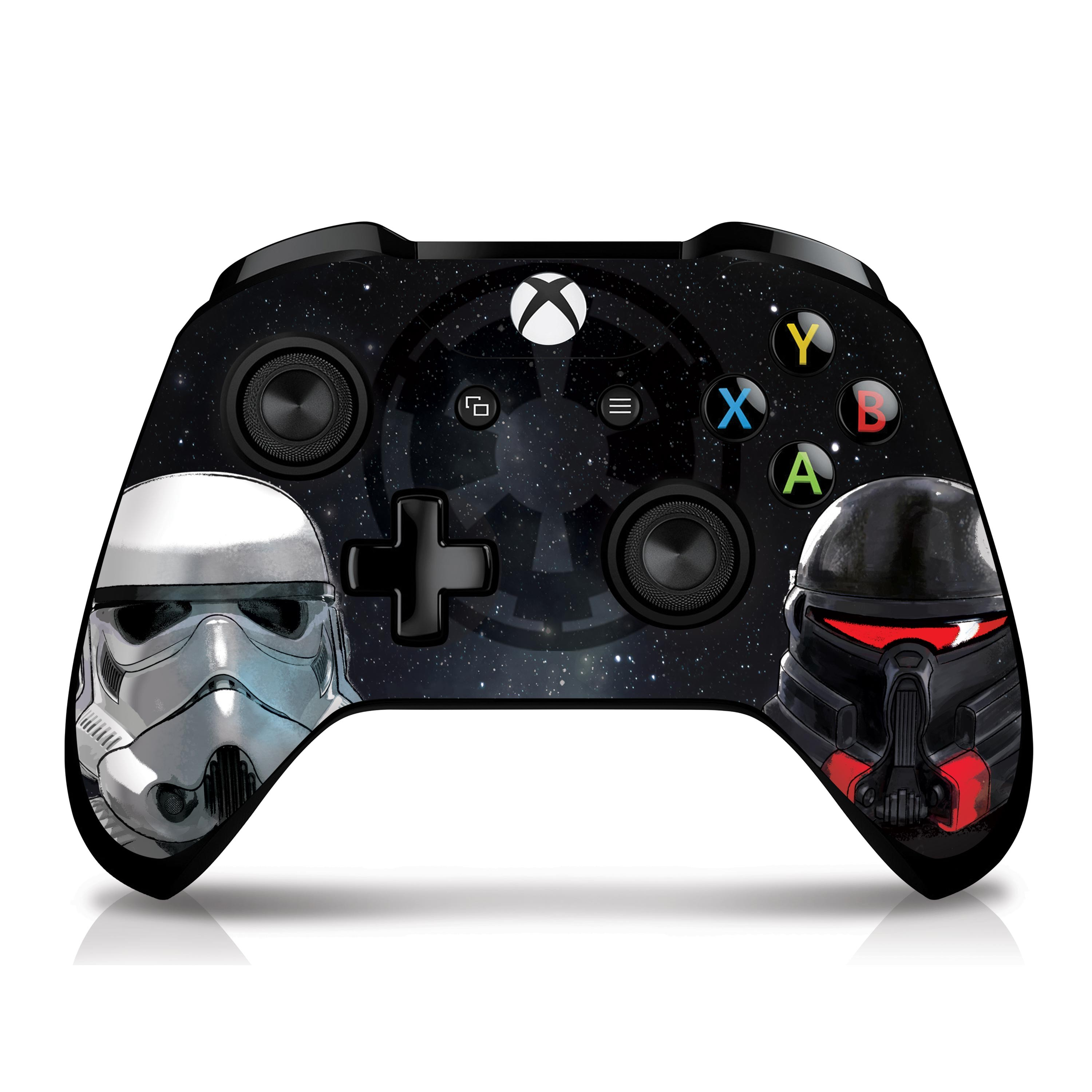 Xbox One X Console and Controller Skin with a Star Wars Jedi Fallen Order Empire Troopers Design, Image 1