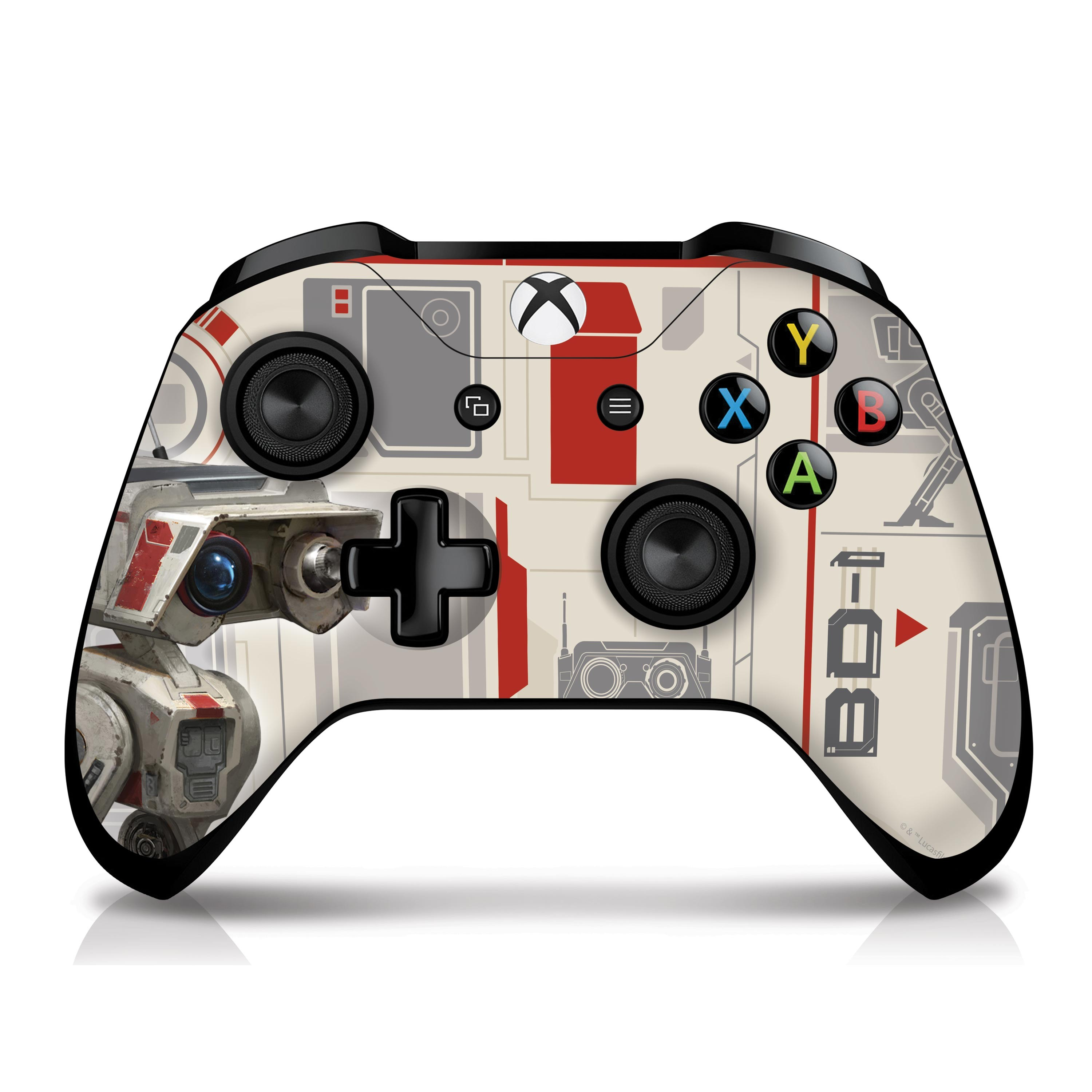 Xbox One X Console and Controller Skin with a Star Wars Jedi Fallen Order BD-1 Design, Image 1