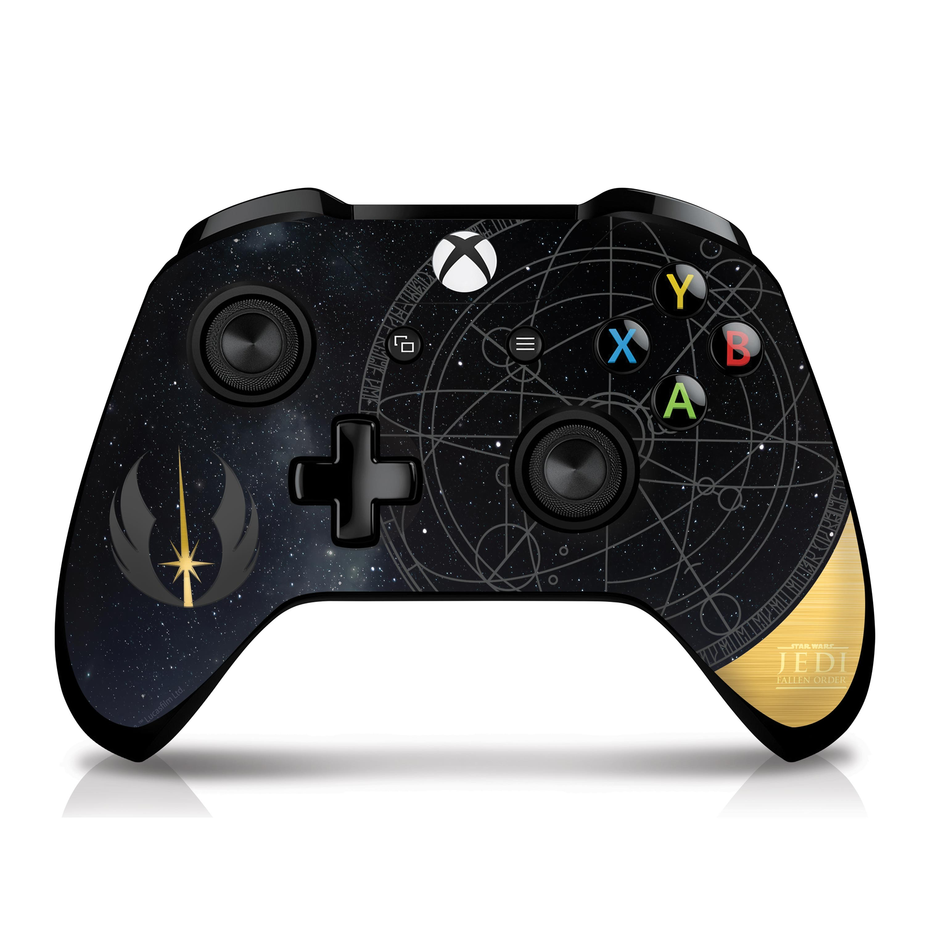 Xbox Controller Skin with a Star Wars Fallen Order Jedi Starfield Design, Image 1