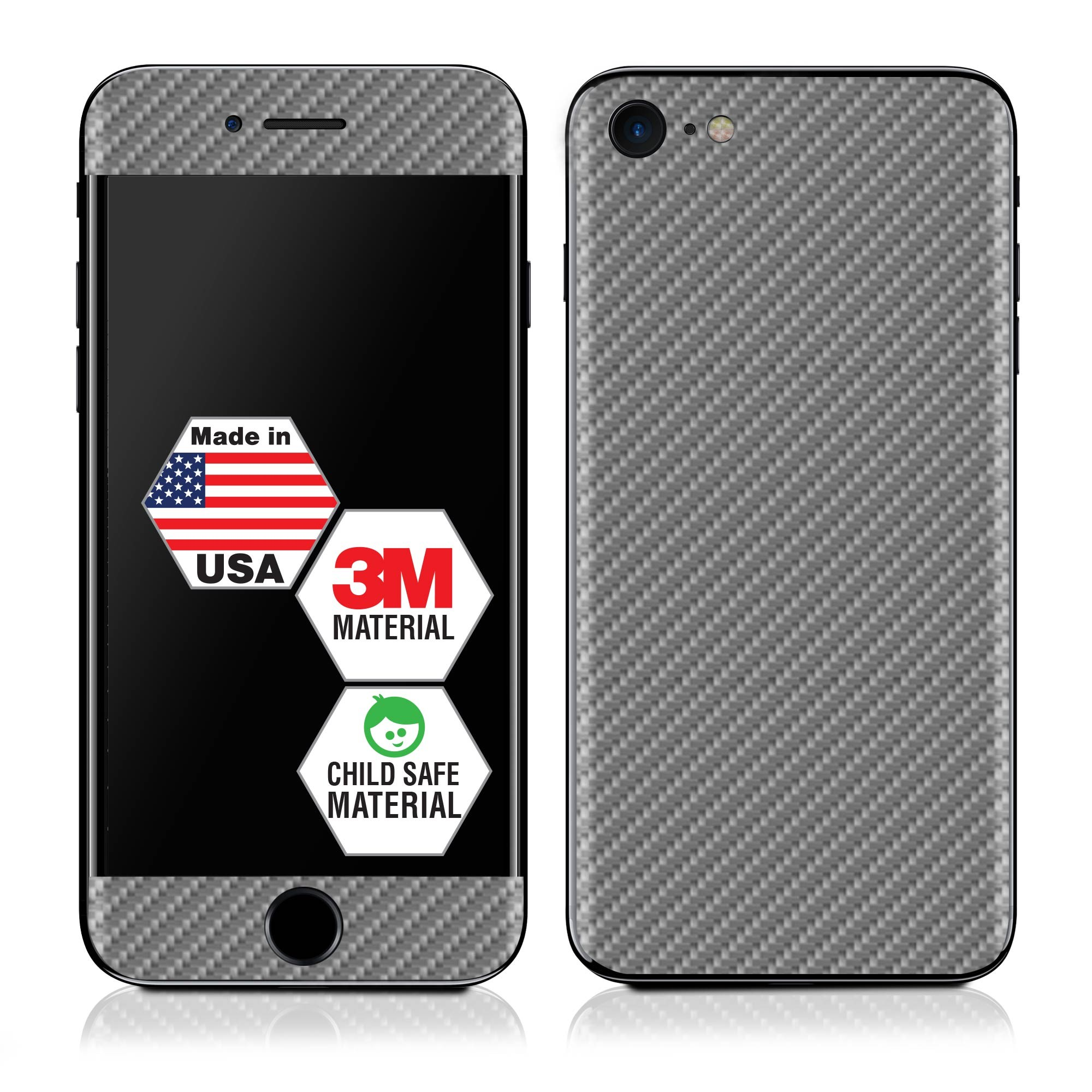Genuine 3M Grey Carbon Fiber IPhone 7 Skin