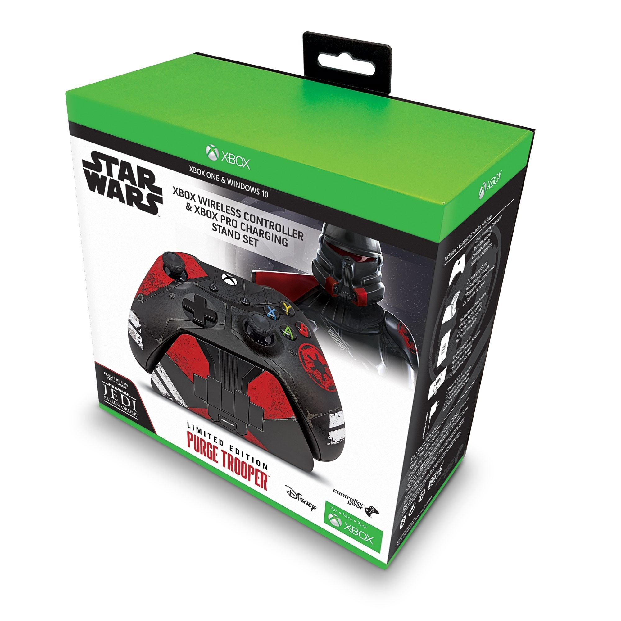 Xbox One Controller & Charging Stand with a Star Wars Jedi Fallen Order Design, Image 1