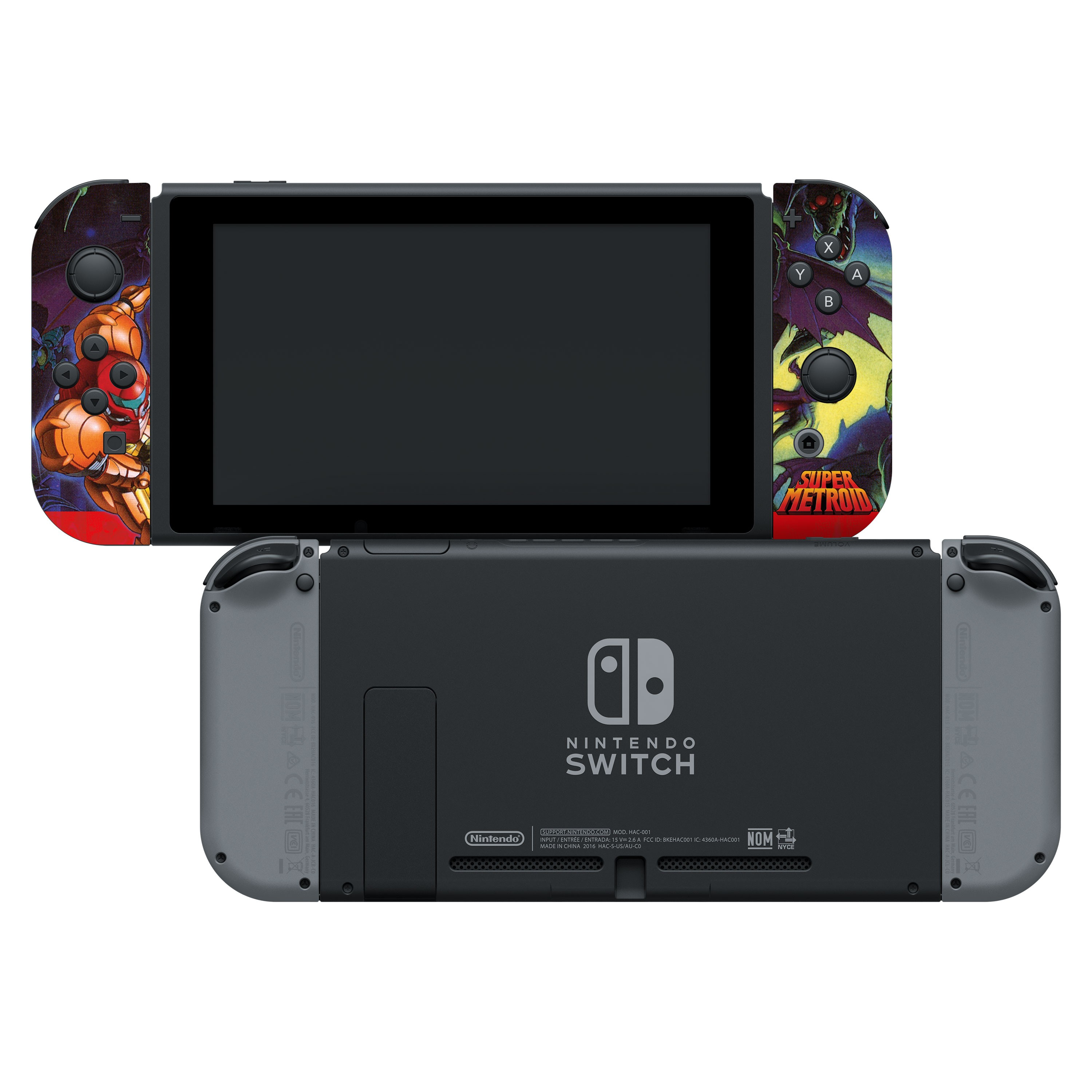 "Super Metroid™ ""Super Metroid"" Nintendo Switch™ Joy-Con™ Skin + Joy-Con™ Grip Skin + Screen Protector Assortment, Officially Licensed by Nintendo"