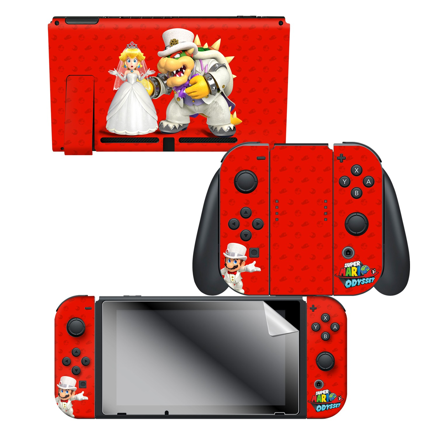 Super Mario Odyssey Wedding Nintendo Switch Console Skin Joy Con Skin Joy Con Grip Skin Screen Protector Bundle Assortment Officially