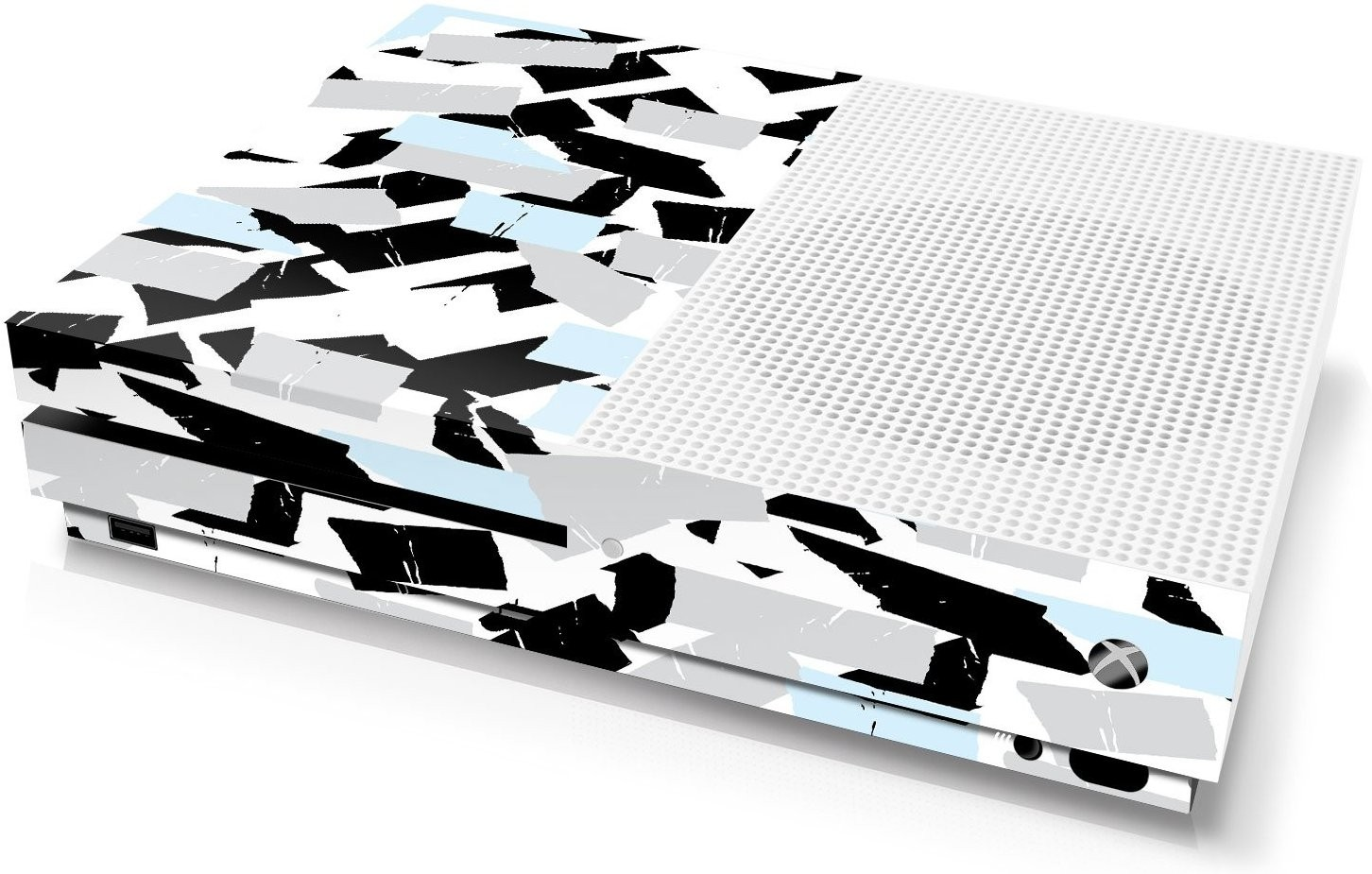 Xbox One S Console Skin - Camouflage: Snow Torn Tape - Officially Licensed by Xbox